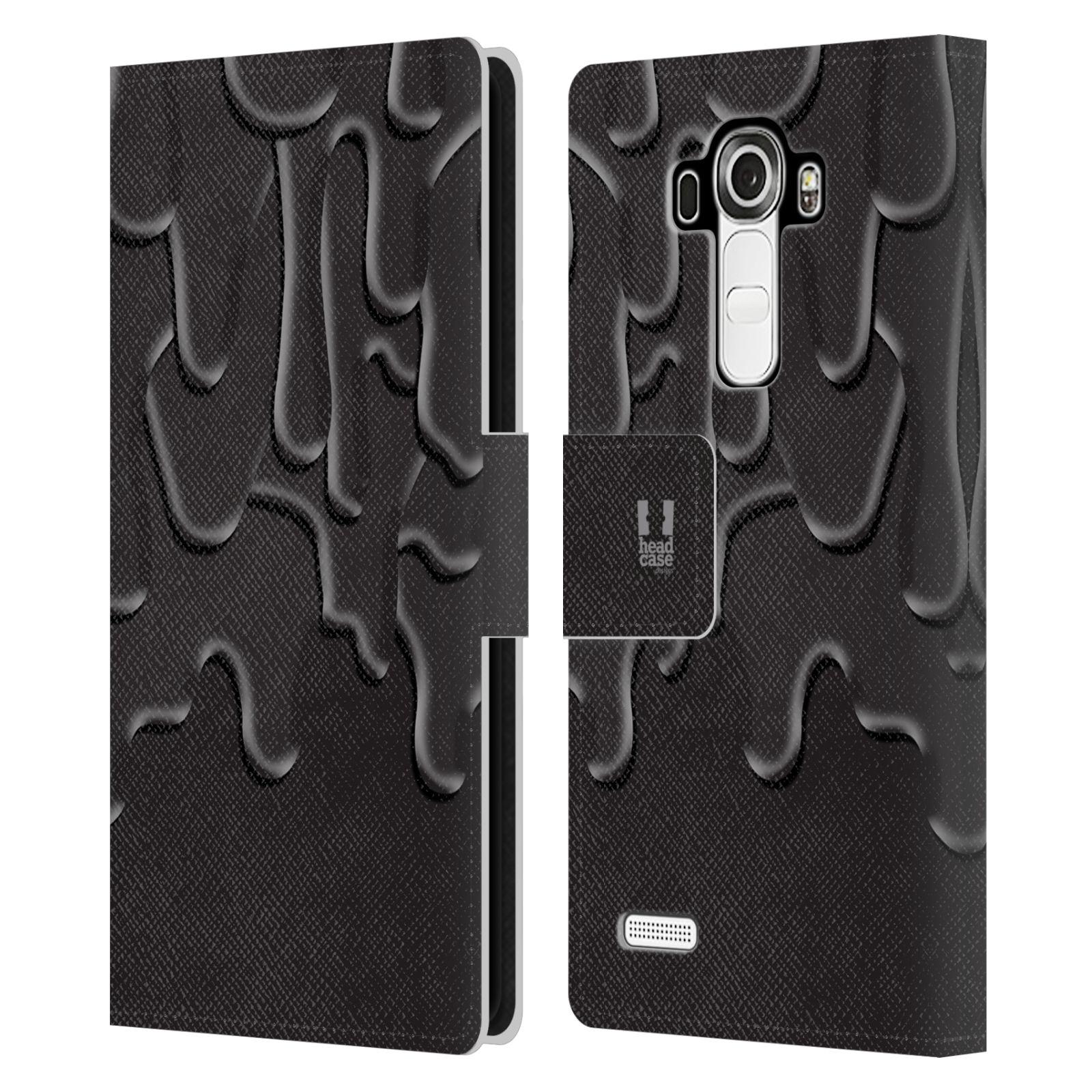 HEAD CASE Flipové pouzdro pro mobil LG G4 (H815) ZÁPLAVA BARVA černá