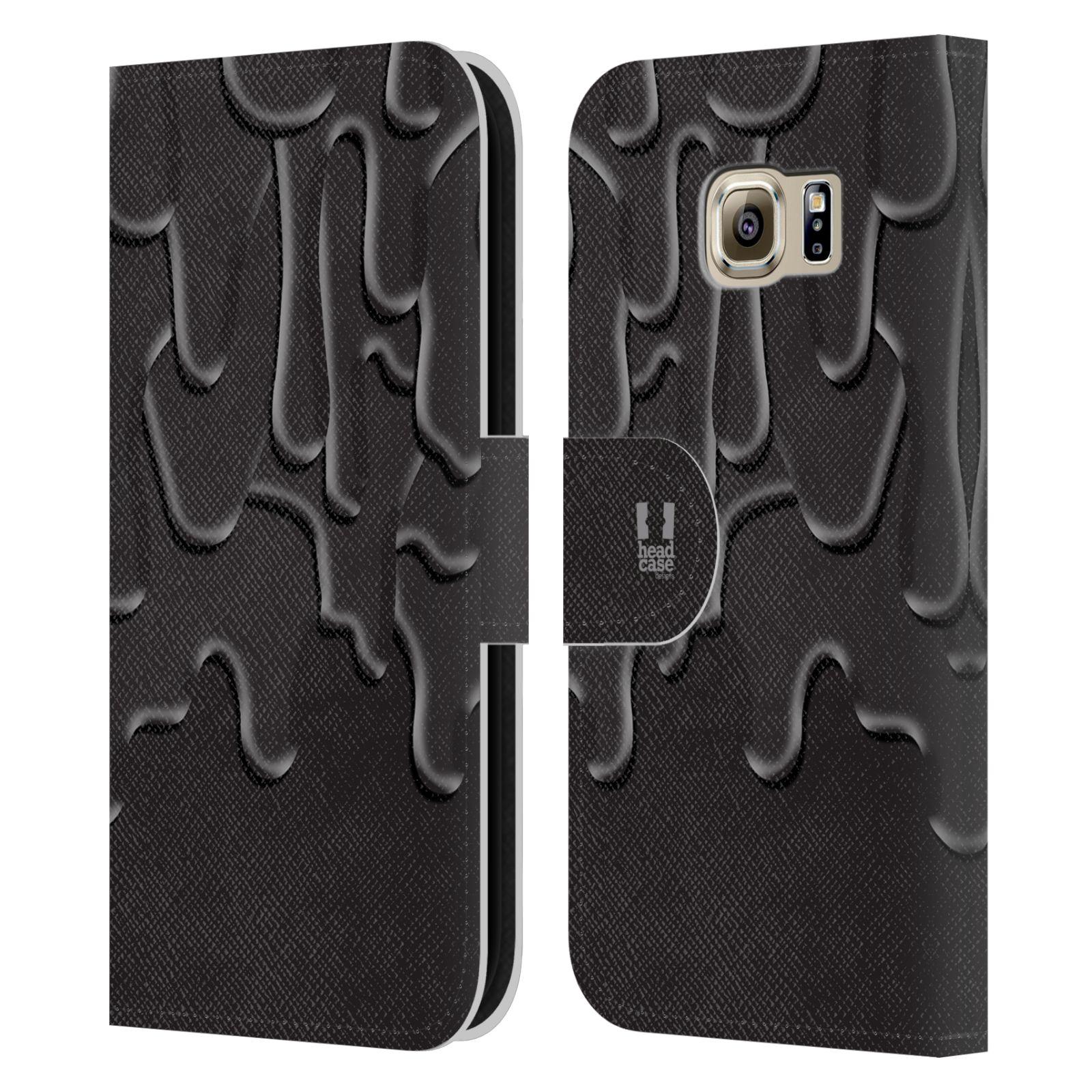 HEAD CASE Flipové pouzdro pro mobil Samsung Galaxy S6 (G9200) ZÁPLAVA BARVA černá