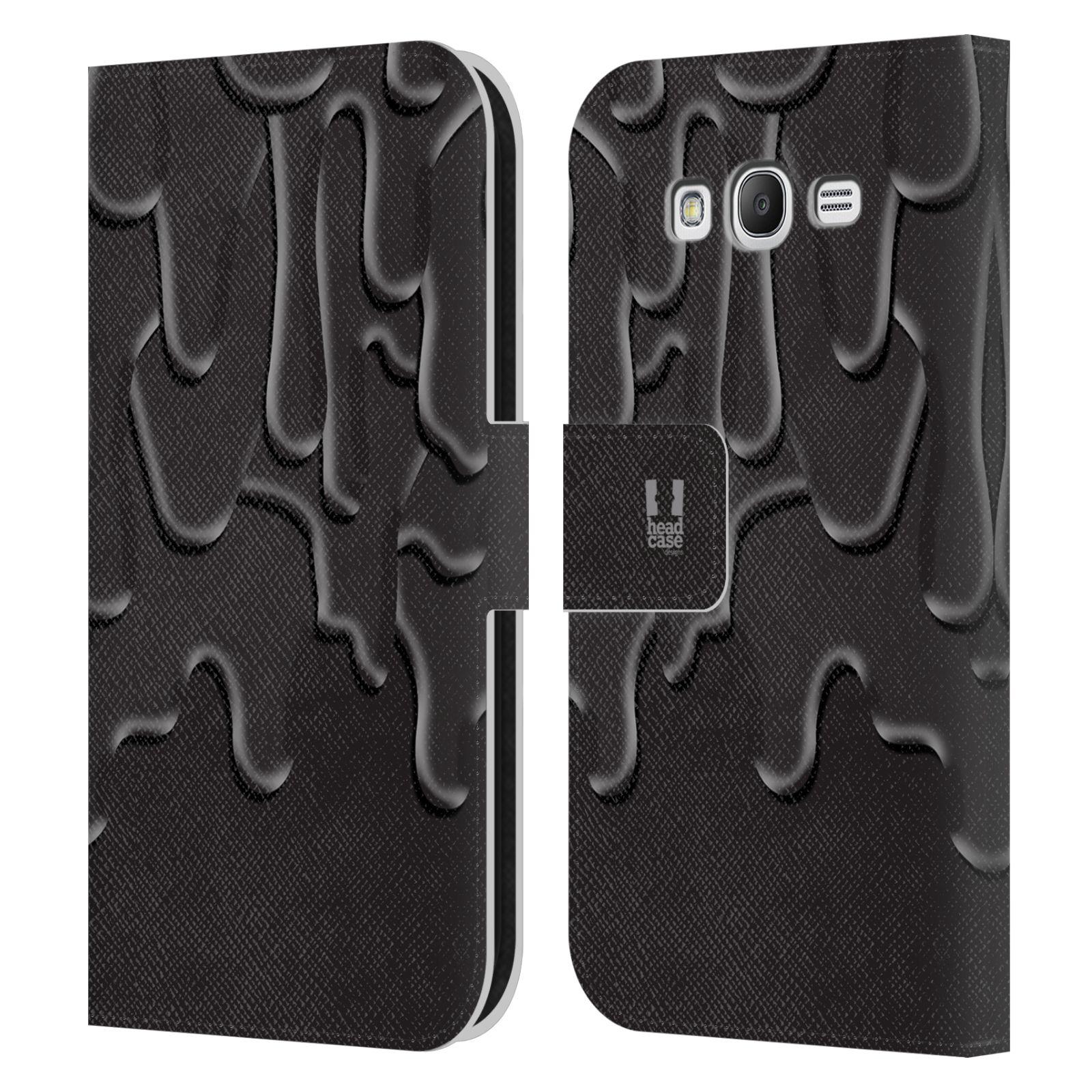 HEAD CASE Flipové pouzdro pro mobil Samsung Galaxy Grand i9080 ZÁPLAVA BARVA černá