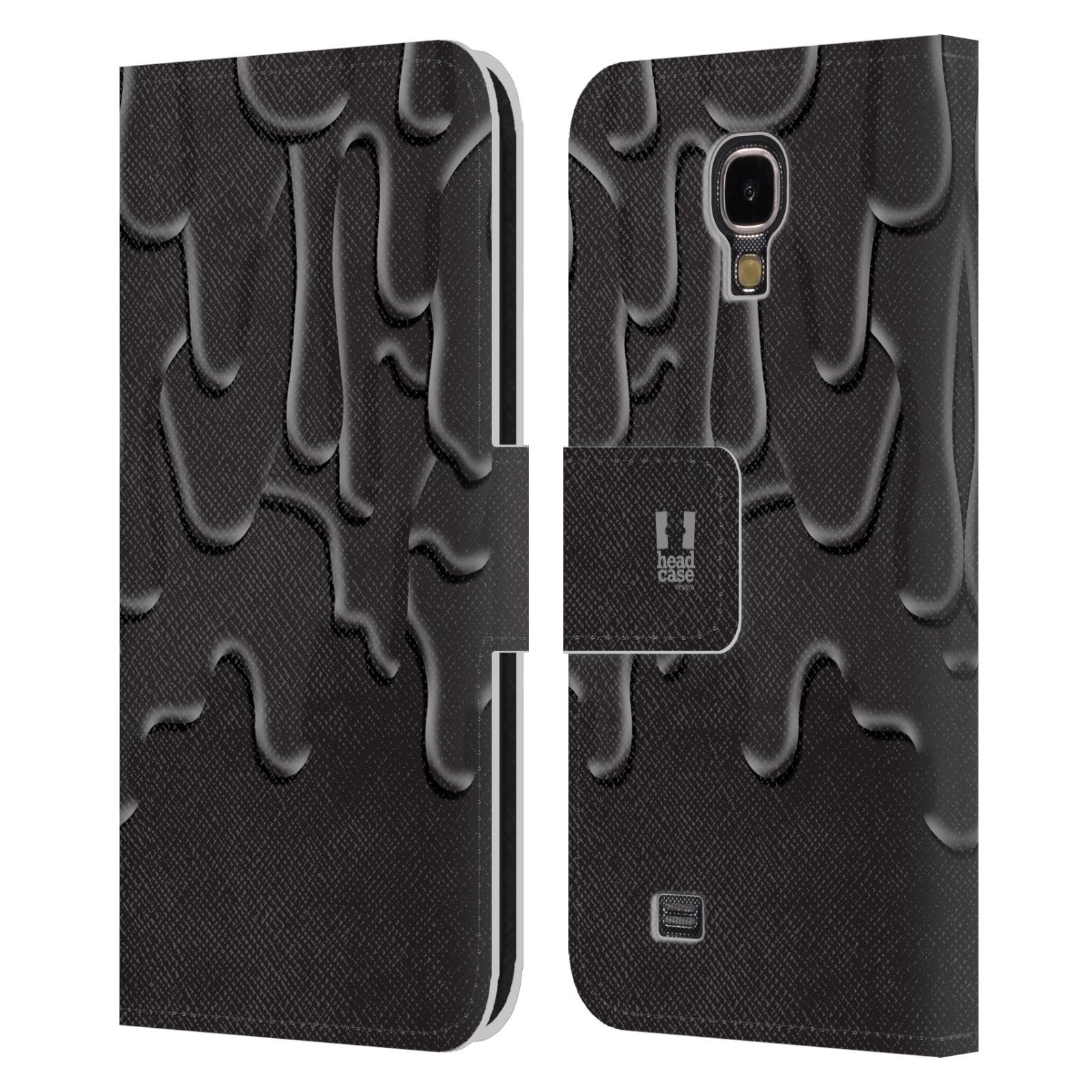 HEAD CASE Flipové pouzdro pro mobil Samsung Galaxy S4 ZÁPLAVA BARVA černá