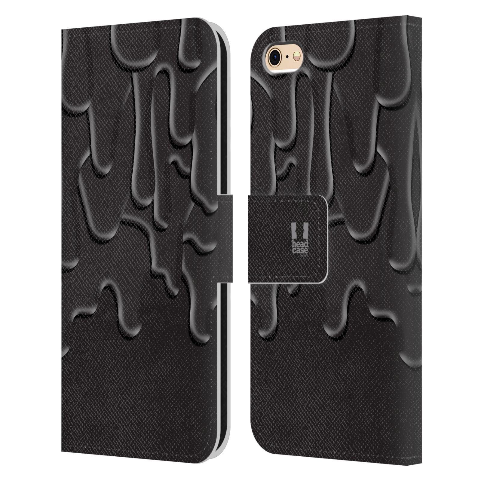 HEAD CASE Flipové pouzdro pro mobil Apple Iphone 6/6s ZÁPLAVA BARVA černá