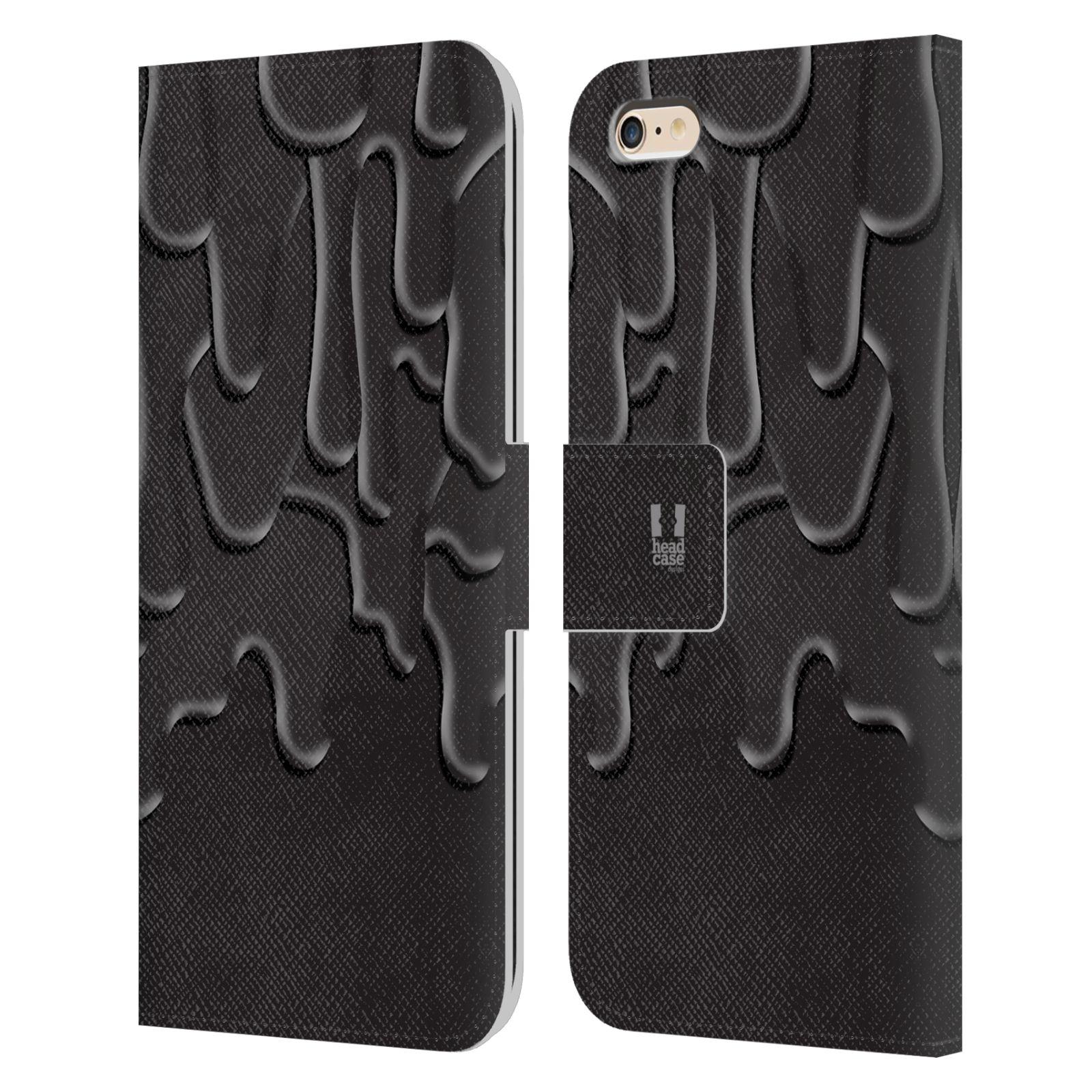 HEAD CASE Flipové pouzdro pro mobil Apple Iphone 6 PLUS / 6S PLUS ZÁPLAVA BARVA černá
