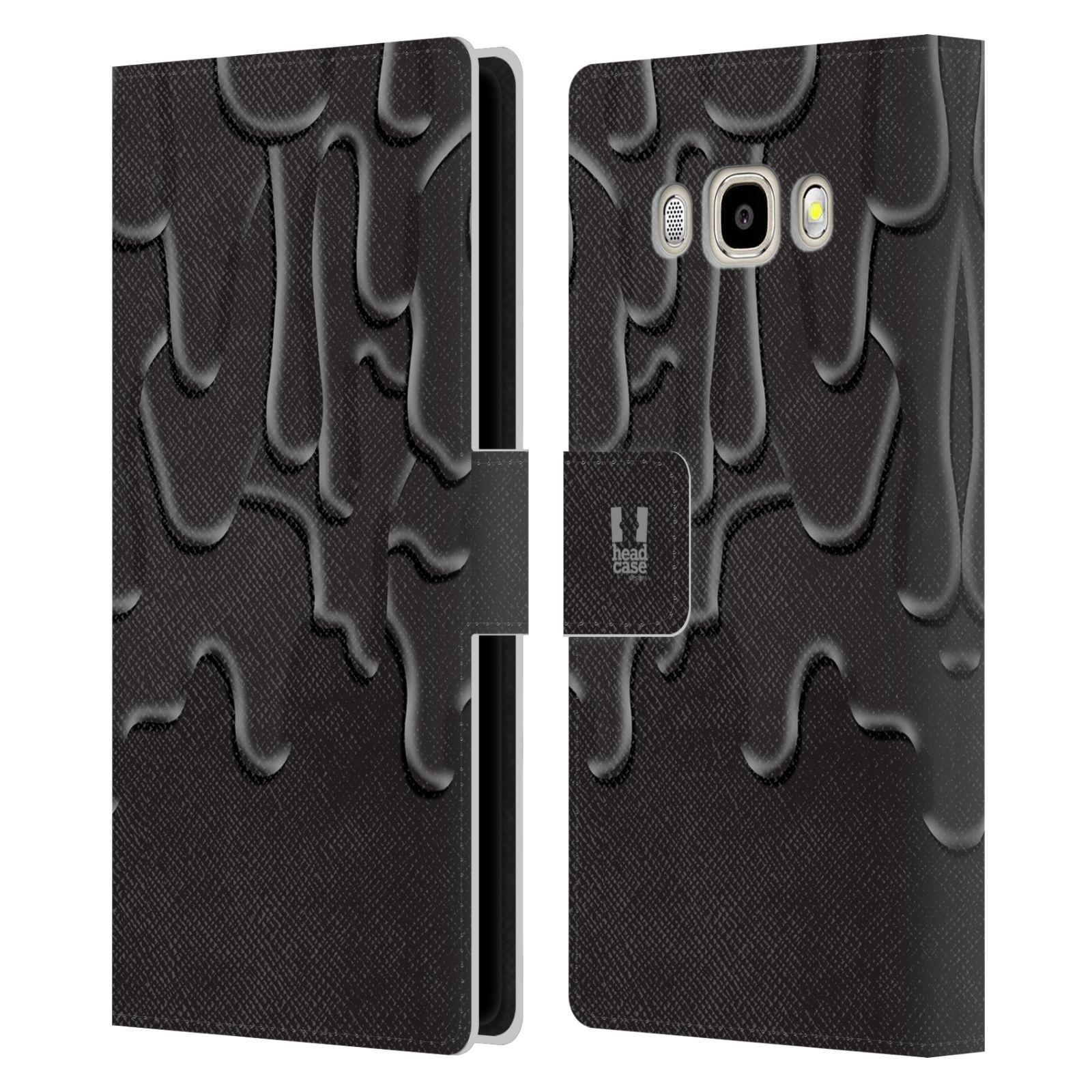 HEAD CASE Flipové pouzdro pro mobil Samsung Galaxy J5 2016 ZÁPLAVA BARVA černá