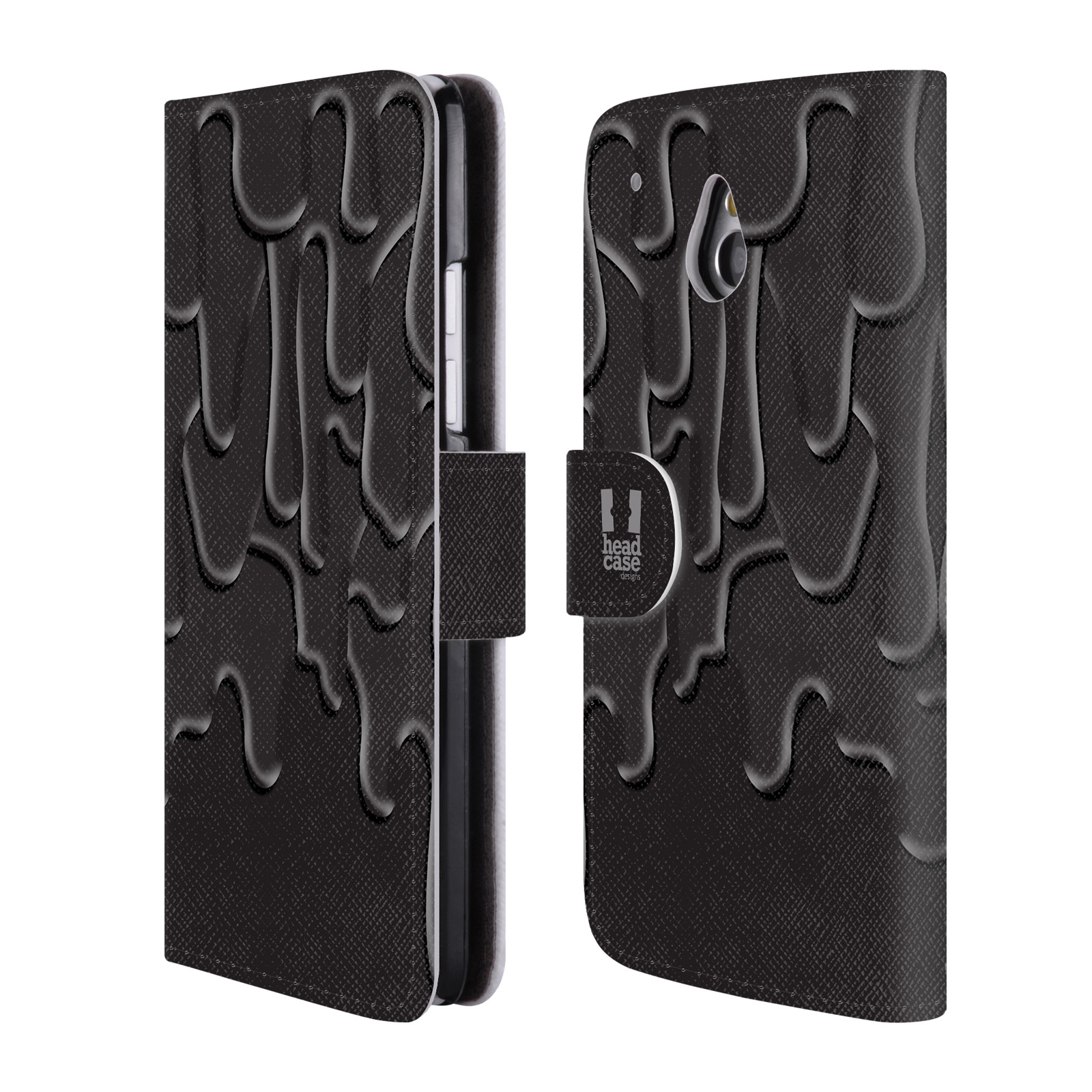 HEAD CASE Flipové pouzdro pro mobil HTC ONE MINI (M4) ZÁPLAVA BARVA černá