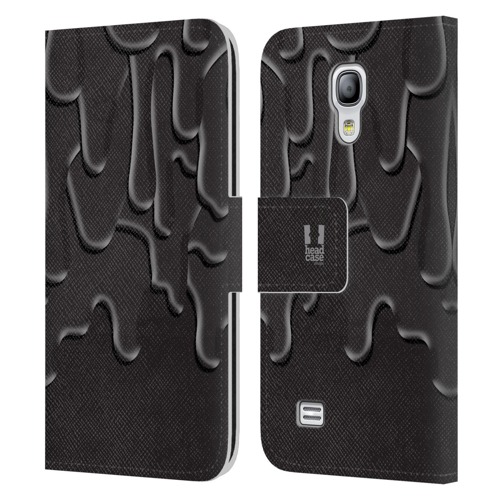 HEAD CASE Flipové pouzdro pro mobil Samsung Galaxy S4 MINI / S4 MINI DUOS ZÁPLAVA BARVA černá