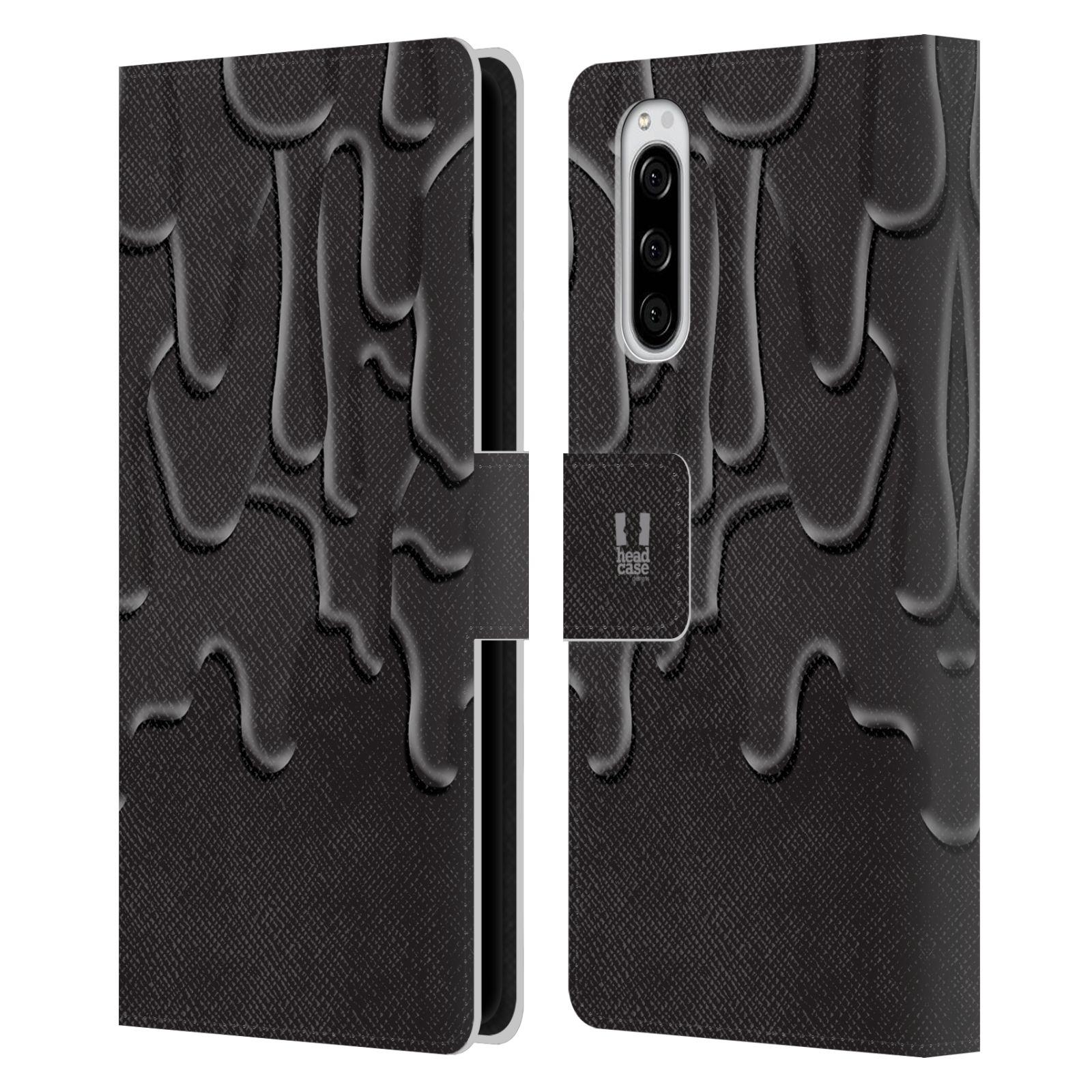 Pouzdro na mobil Sony Xperia 5 ZÁPLAVA BARVA černá