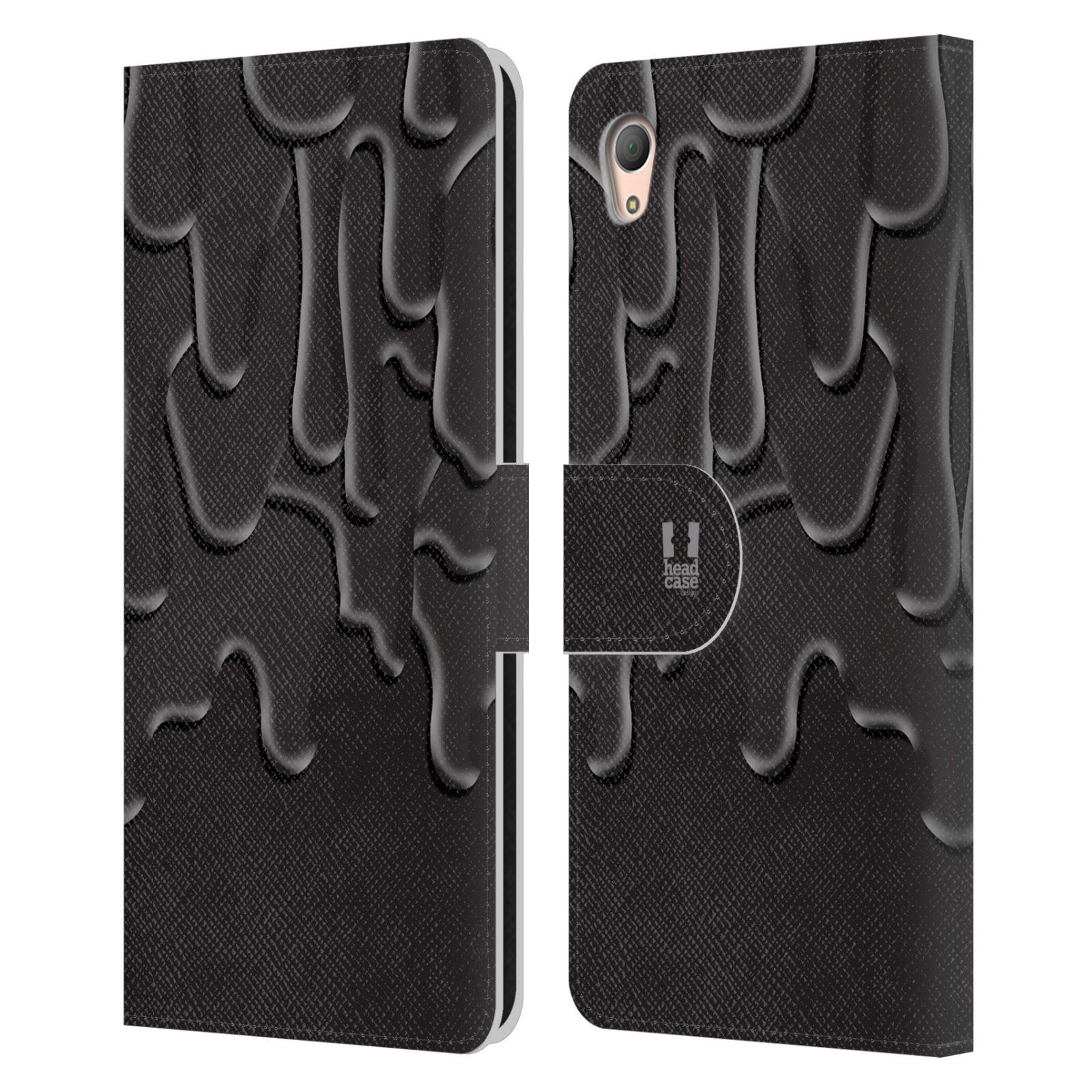 HEAD CASE Flipové pouzdro pro mobil SONY XPERIA Z3+ (PLUS) ZÁPLAVA BARVA černá