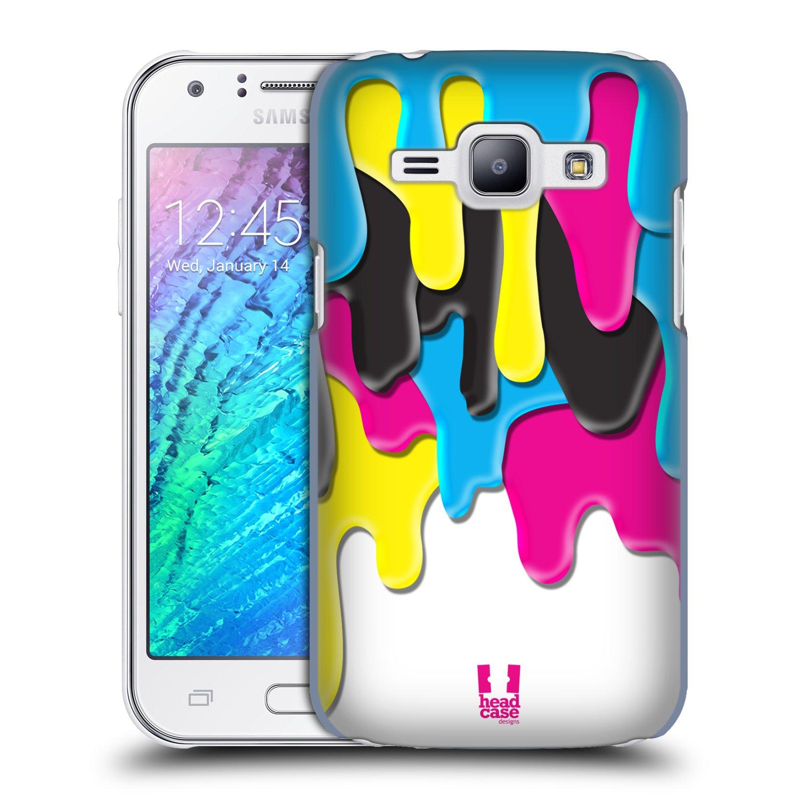 HEAD CASE plastový obal na mobil SAMSUNG Galaxy J1, J100 vzor Barevná záplava CMYK