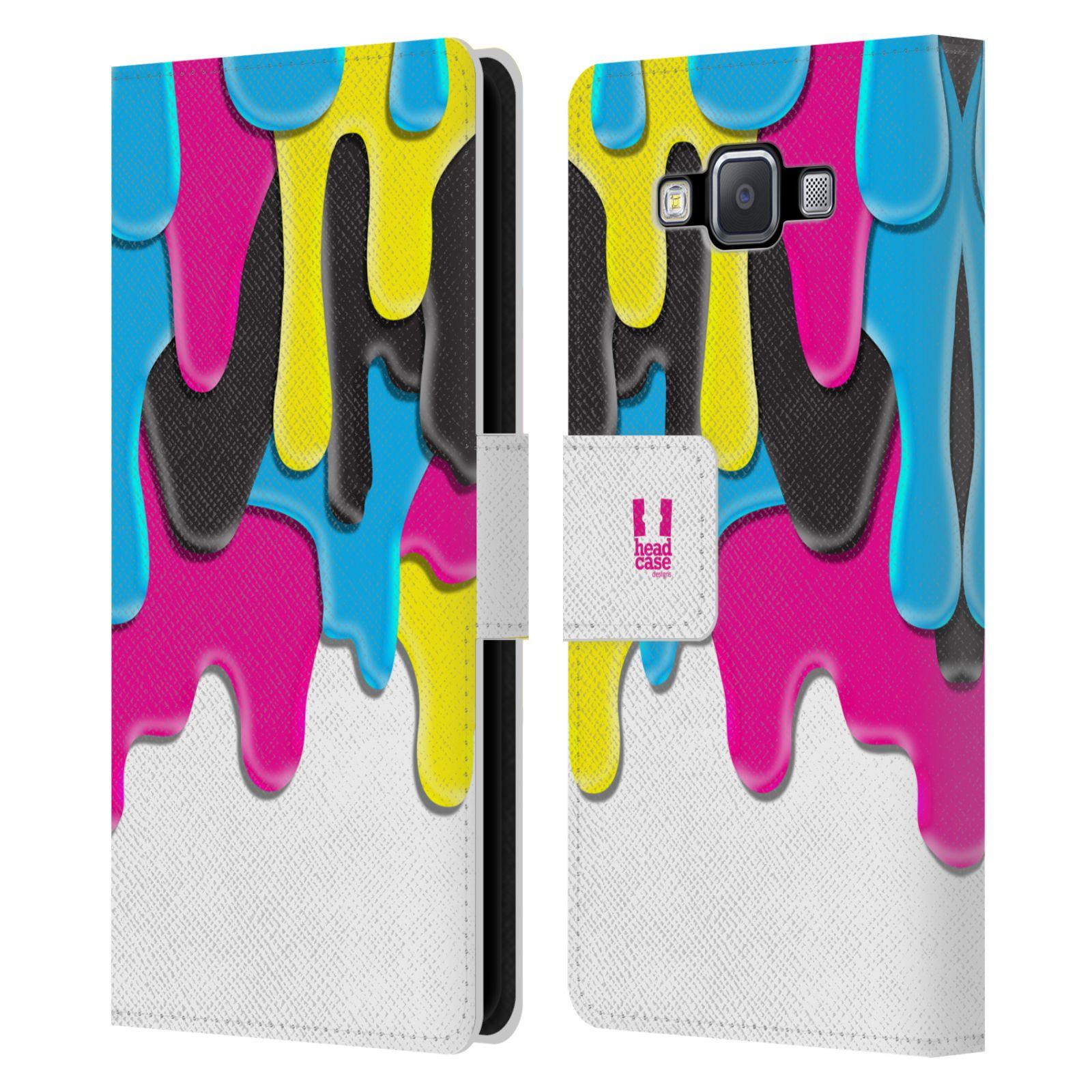 HEAD CASE Flipové pouzdro pro mobil Samsung Galaxy A5 ZÁPLAVA BARVA MIX barev