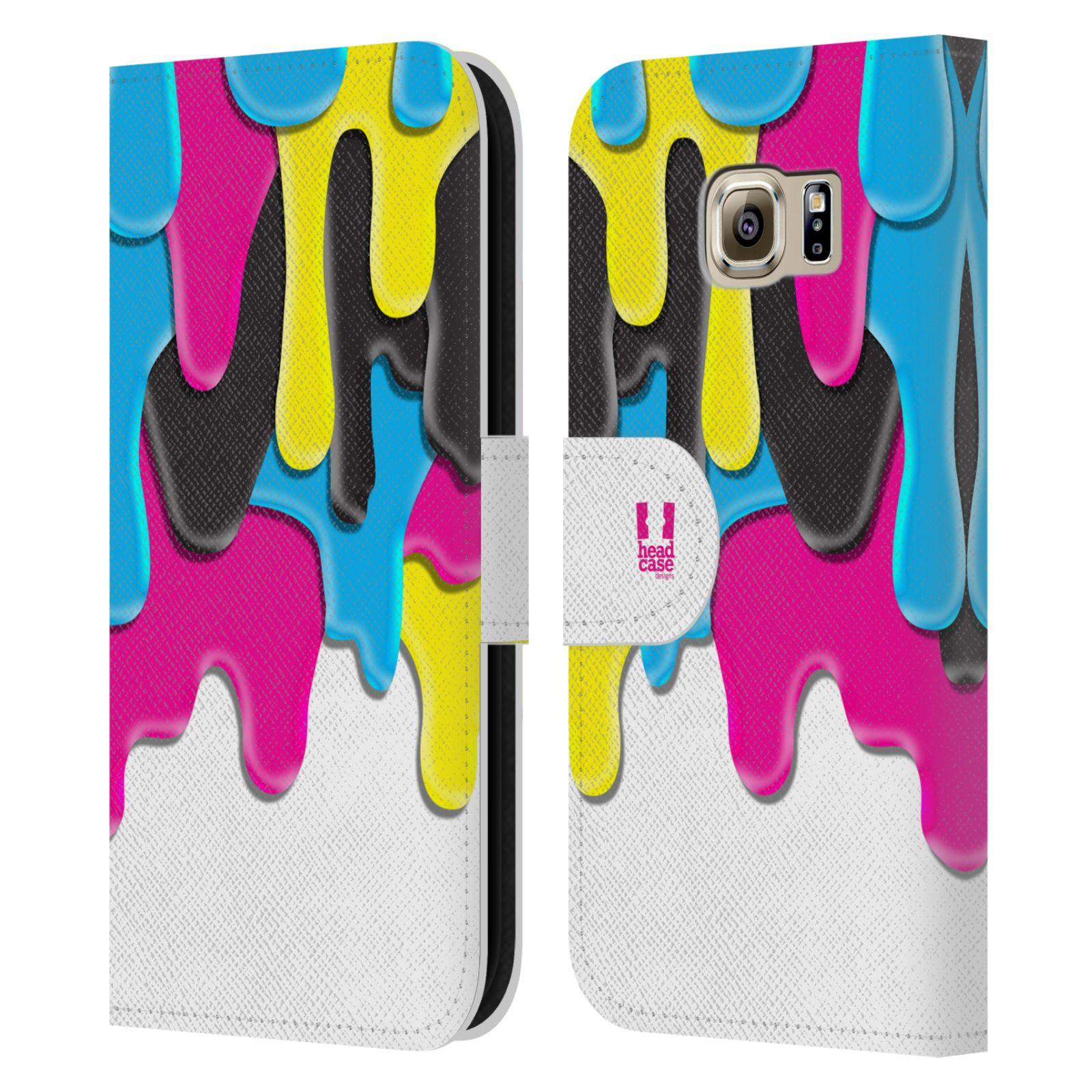 HEAD CASE Flipové pouzdro pro mobil Samsung Galaxy S6 (G9200) ZÁPLAVA BARVA MIX barev