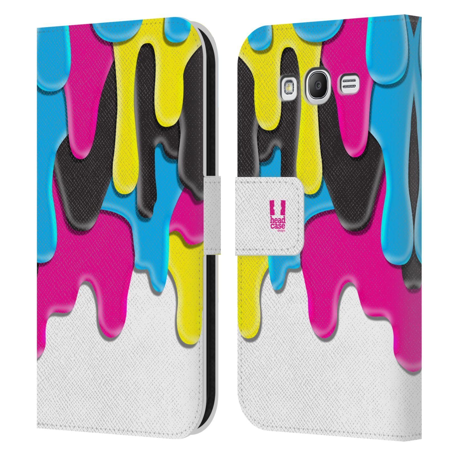 HEAD CASE Flipové pouzdro pro mobil Samsung Galaxy Grand i9080 ZÁPLAVA BARVA MIX barev