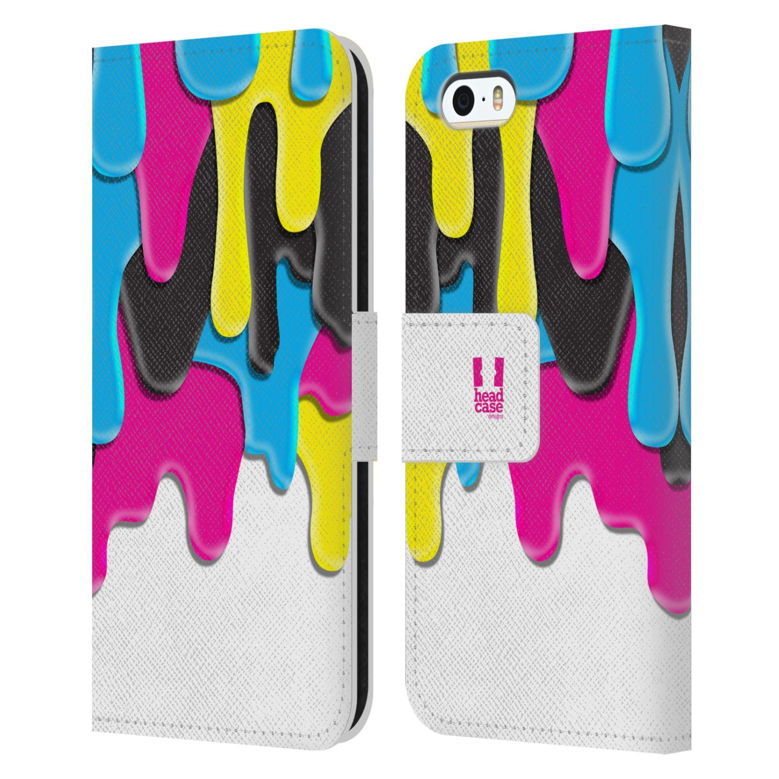 HEAD CASE Flipové pouzdro pro mobil Apple Iphone 5/5s ZÁPLAVA BARVA MIX barev