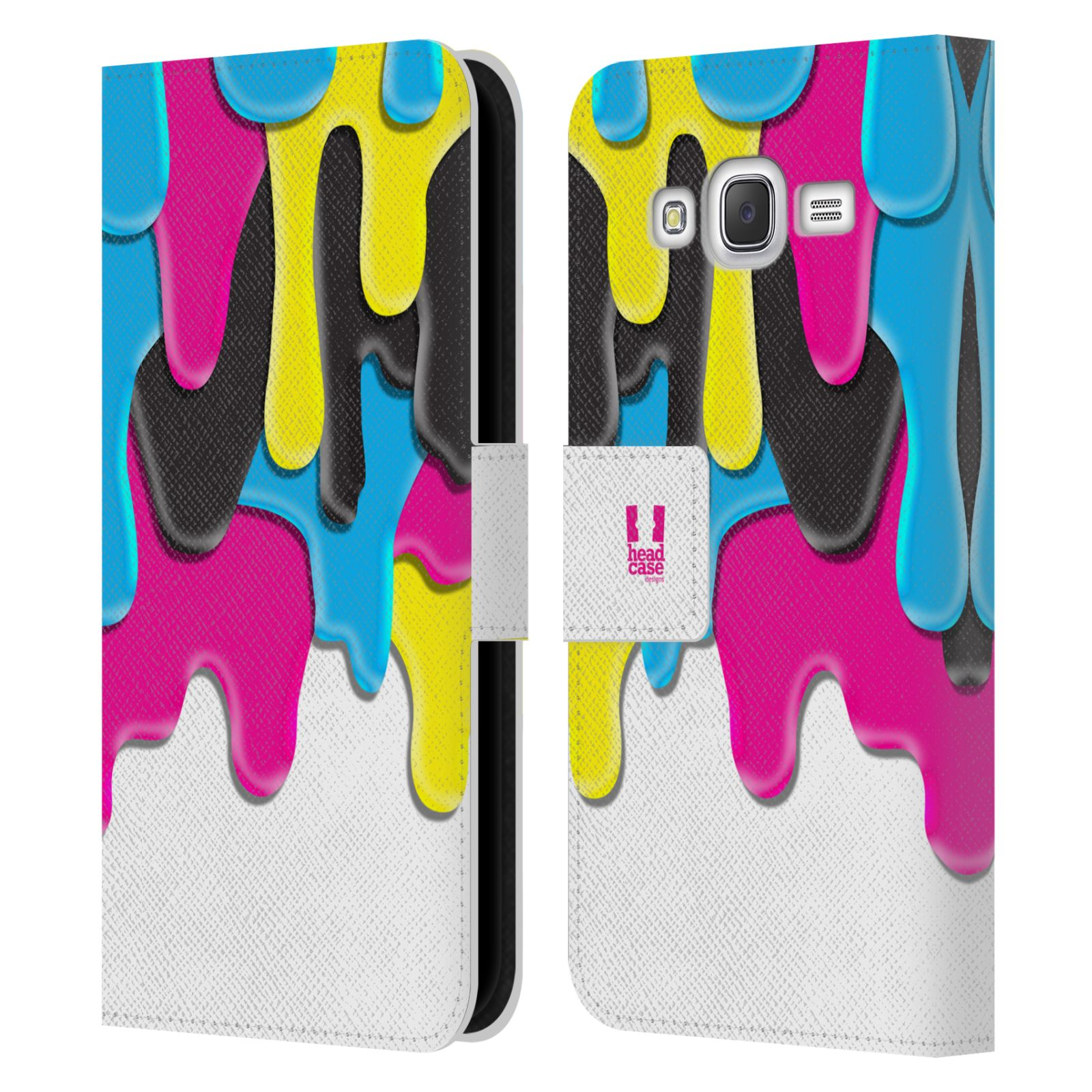 HEAD CASE Flipové pouzdro pro mobil Samsung Galaxy J5 (J500) / J5 DUOS ZÁPLAVA BARVA MIX barev