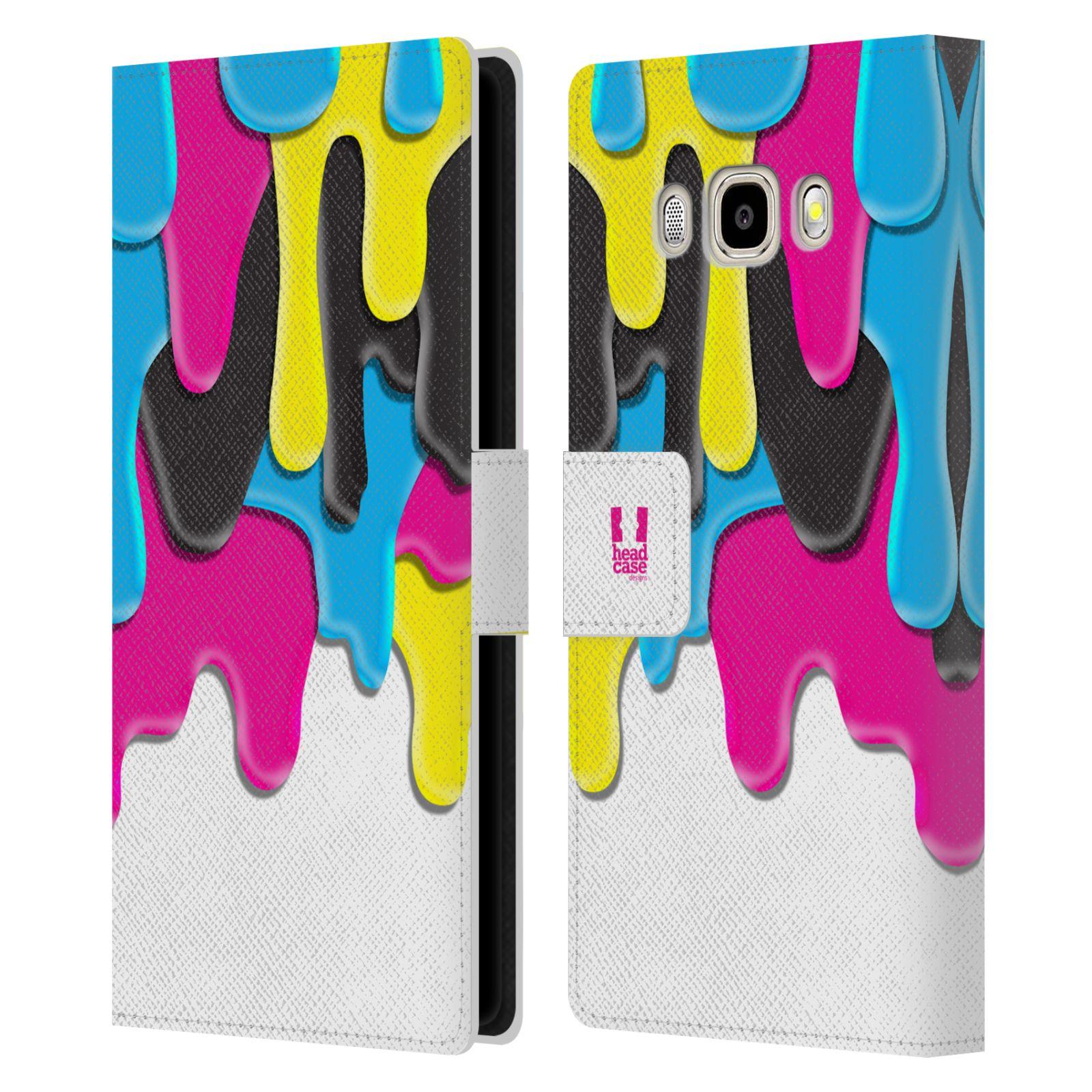 HEAD CASE Flipové pouzdro pro mobil Samsung Galaxy J5 2016 ZÁPLAVA BARVA MIX barev