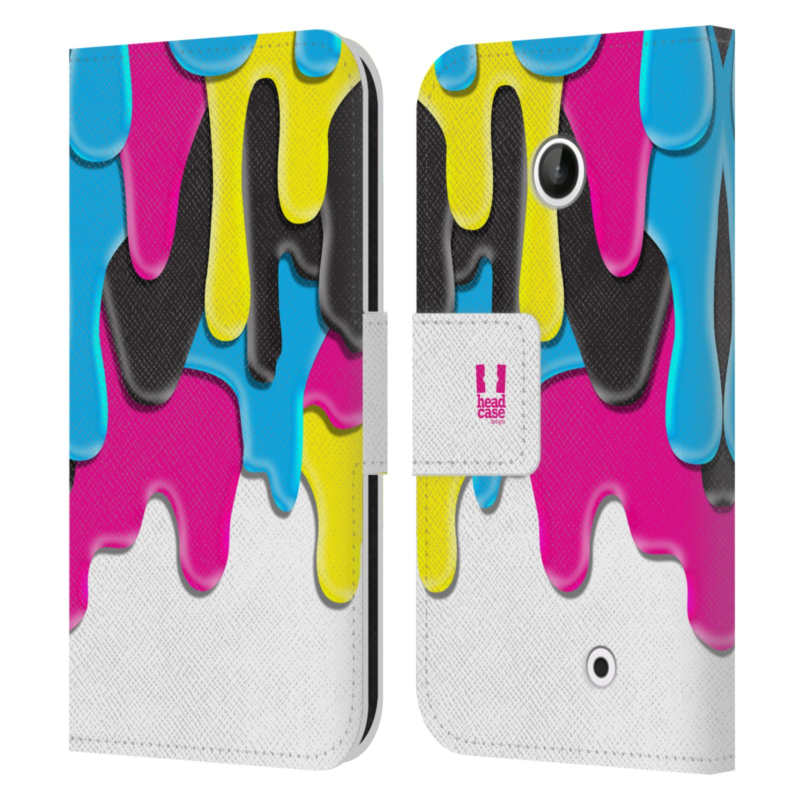 HEAD CASE Flipové pouzdro pro mobil NOKIA LUMIA 630 / LUMIA 630 DUAL ZÁPLAVA BARVA MIX barev