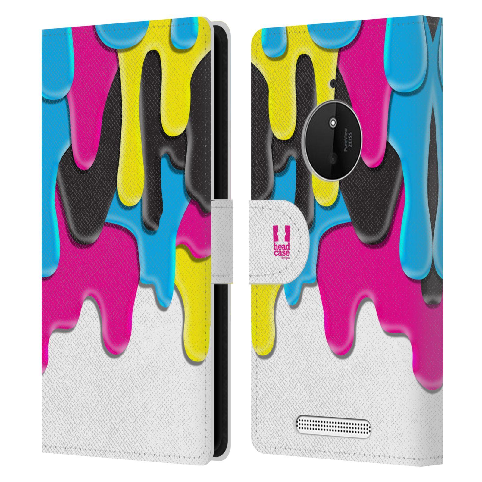 HEAD CASE Flipové pouzdro pro mobil NOKIA LUMIA 830 ZÁPLAVA BARVA MIX barev