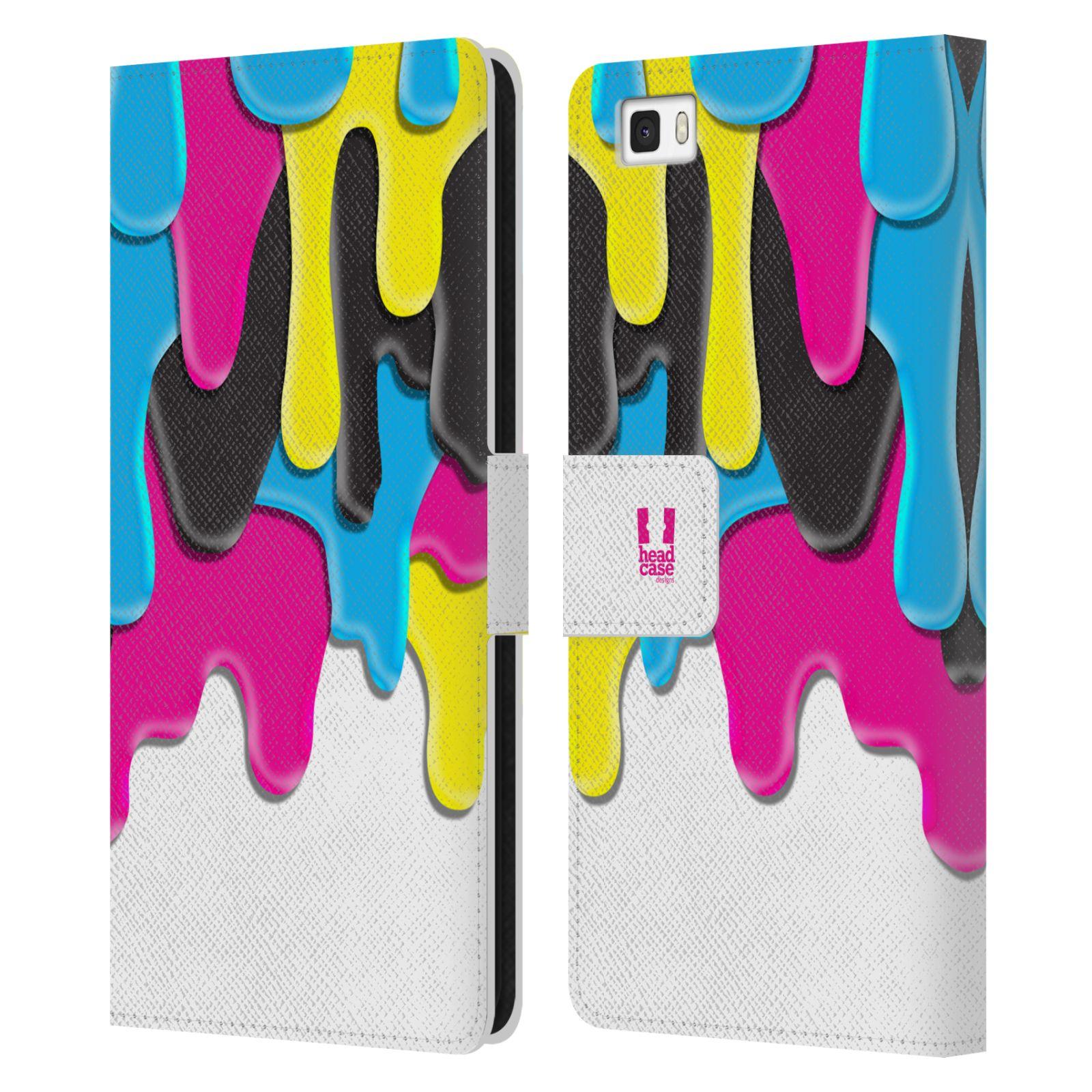 HEAD CASE Flipové pouzdro pro mobil Huawei P8 LITE ZÁPLAVA BARVA MIX barev