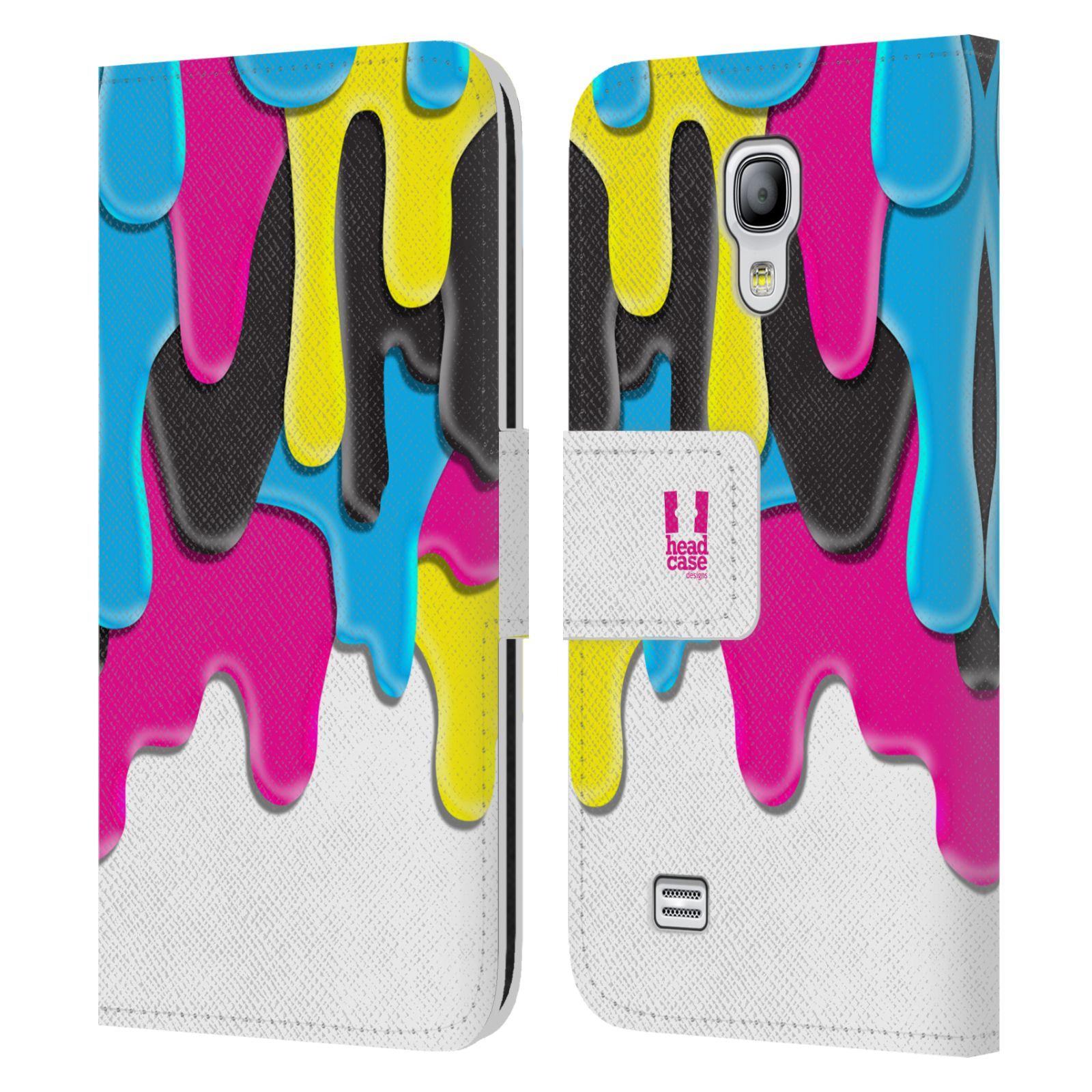 HEAD CASE Flipové pouzdro pro mobil Samsung Galaxy S4 MINI / S4 MINI DUOS ZÁPLAVA BARVA MIX barev