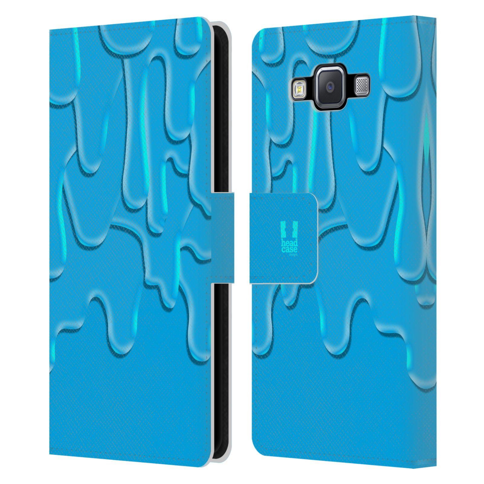 HEAD CASE Flipové pouzdro pro mobil Samsung Galaxy A5 ZÁPLAVA BARVA tyrkysová modrá