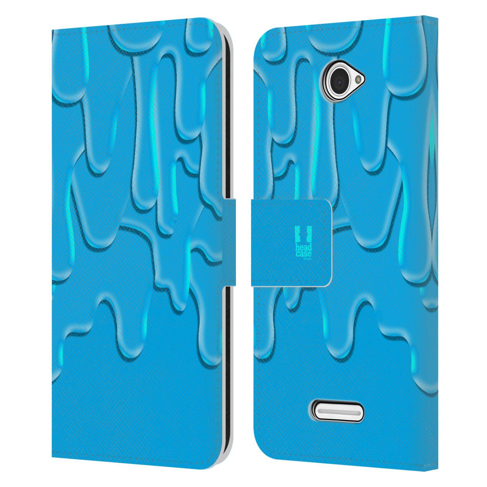 HEAD CASE Flipové pouzdro pro mobil SONY XPERIA E4 ZÁPLAVA BARVA tyrkysová modrá