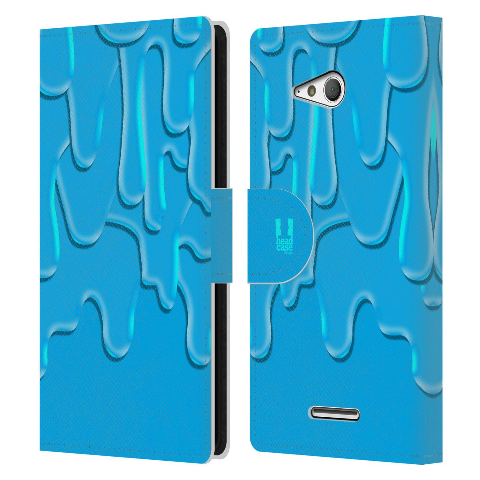 HEAD CASE Flipové pouzdro pro mobil SONY XPERIA E4g ZÁPLAVA BARVA tyrkysová modrá