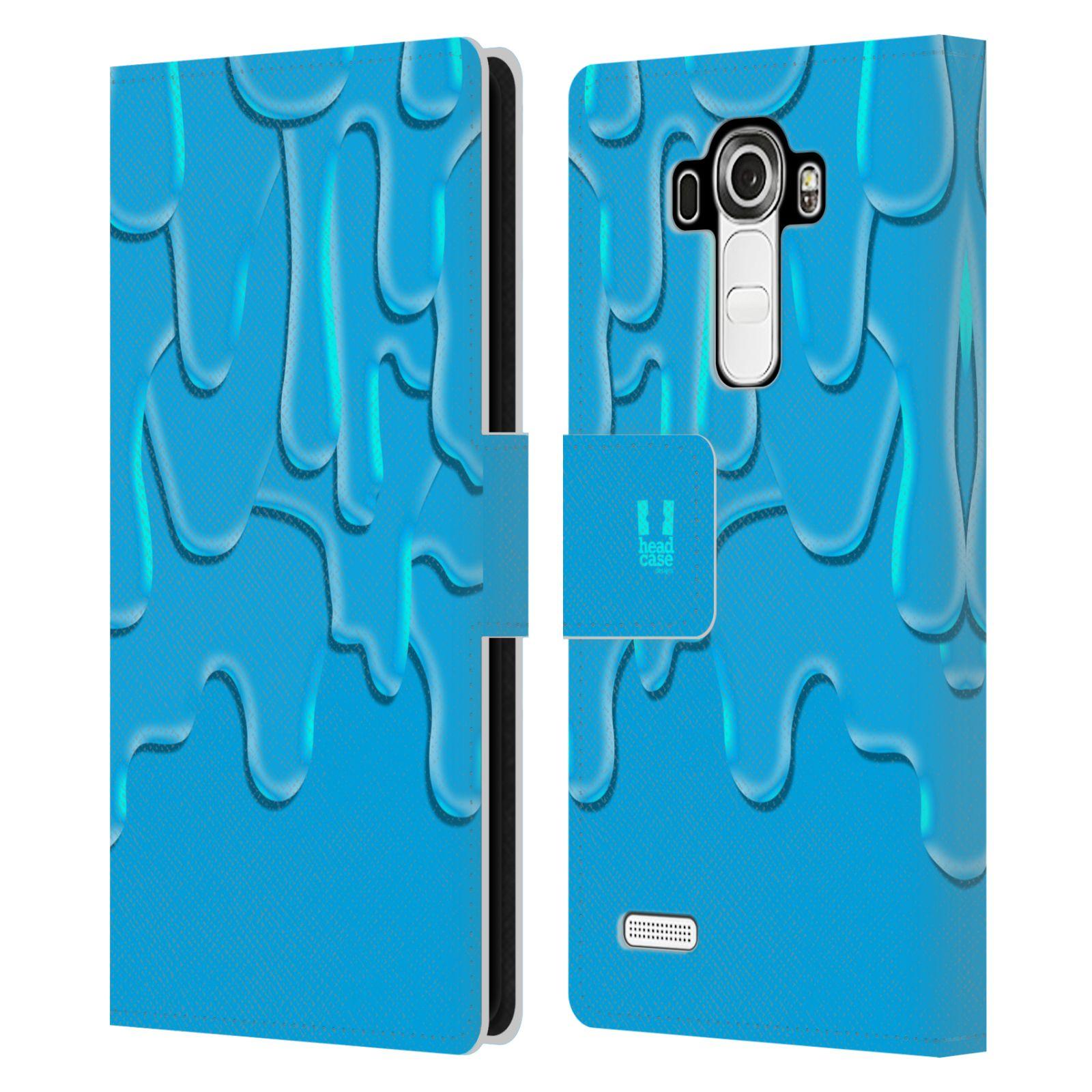 HEAD CASE Flipové pouzdro pro mobil LG G4 (H815) ZÁPLAVA BARVA tyrkysová modrá