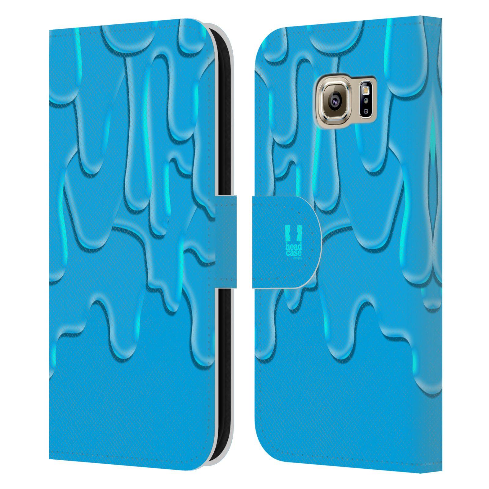 HEAD CASE Flipové pouzdro pro mobil Samsung Galaxy S6 (G9200) ZÁPLAVA BARVA tyrkysová modrá