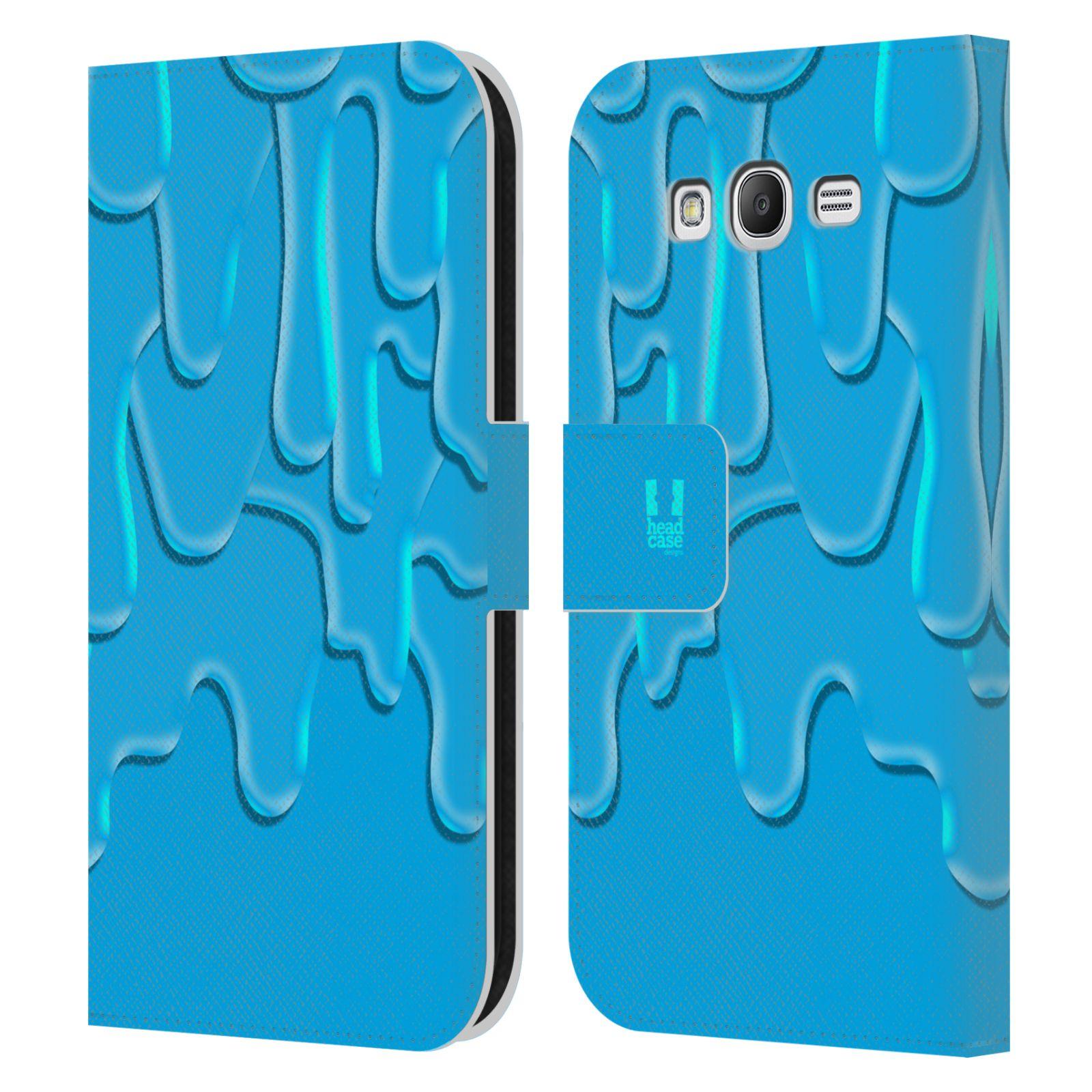 HEAD CASE Flipové pouzdro pro mobil Samsung Galaxy Grand i9080 ZÁPLAVA BARVA tyrkysová modrá