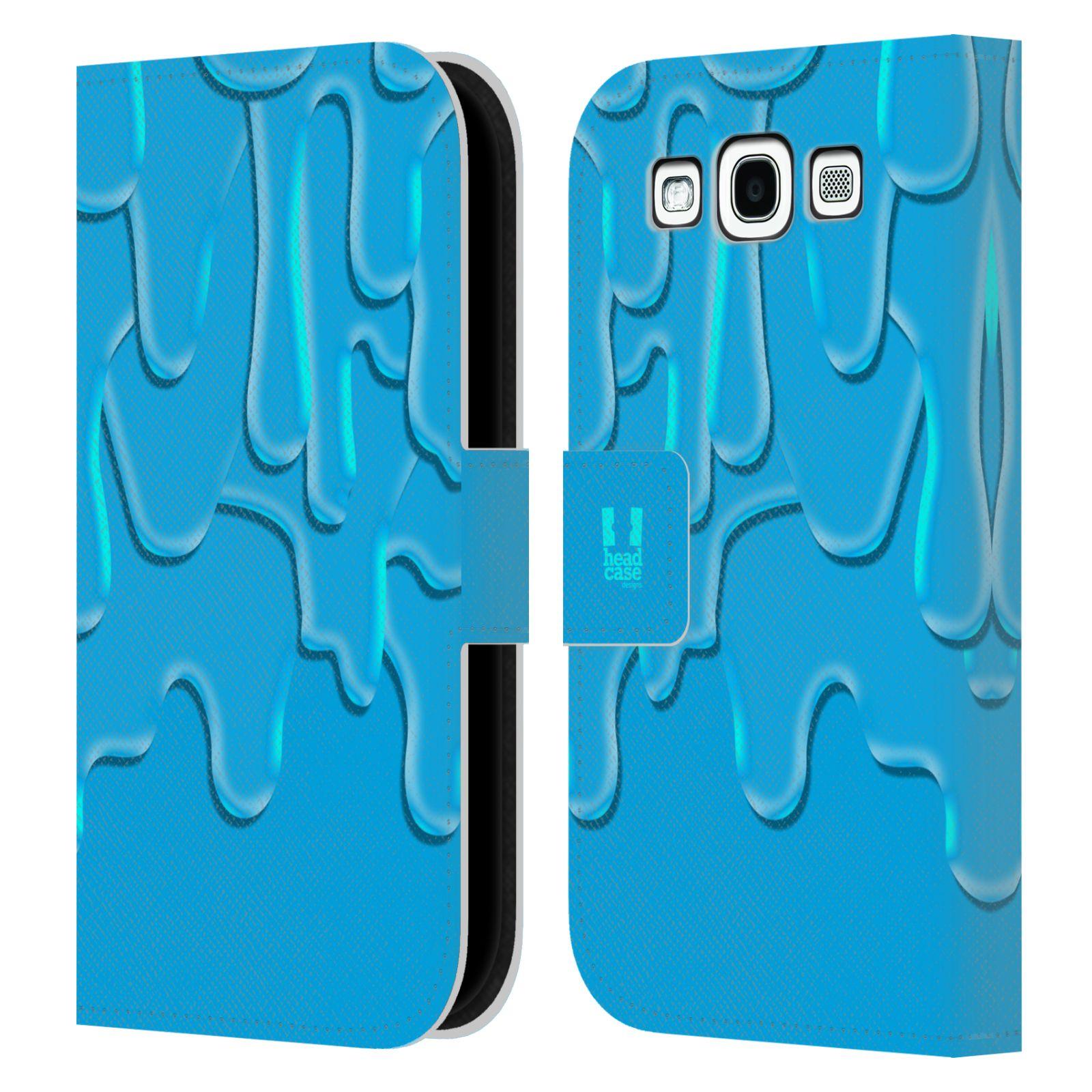 HEAD CASE Flipové pouzdro pro mobil Samsung Galaxy S3 ZÁPLAVA BARVA tyrkysová modrá