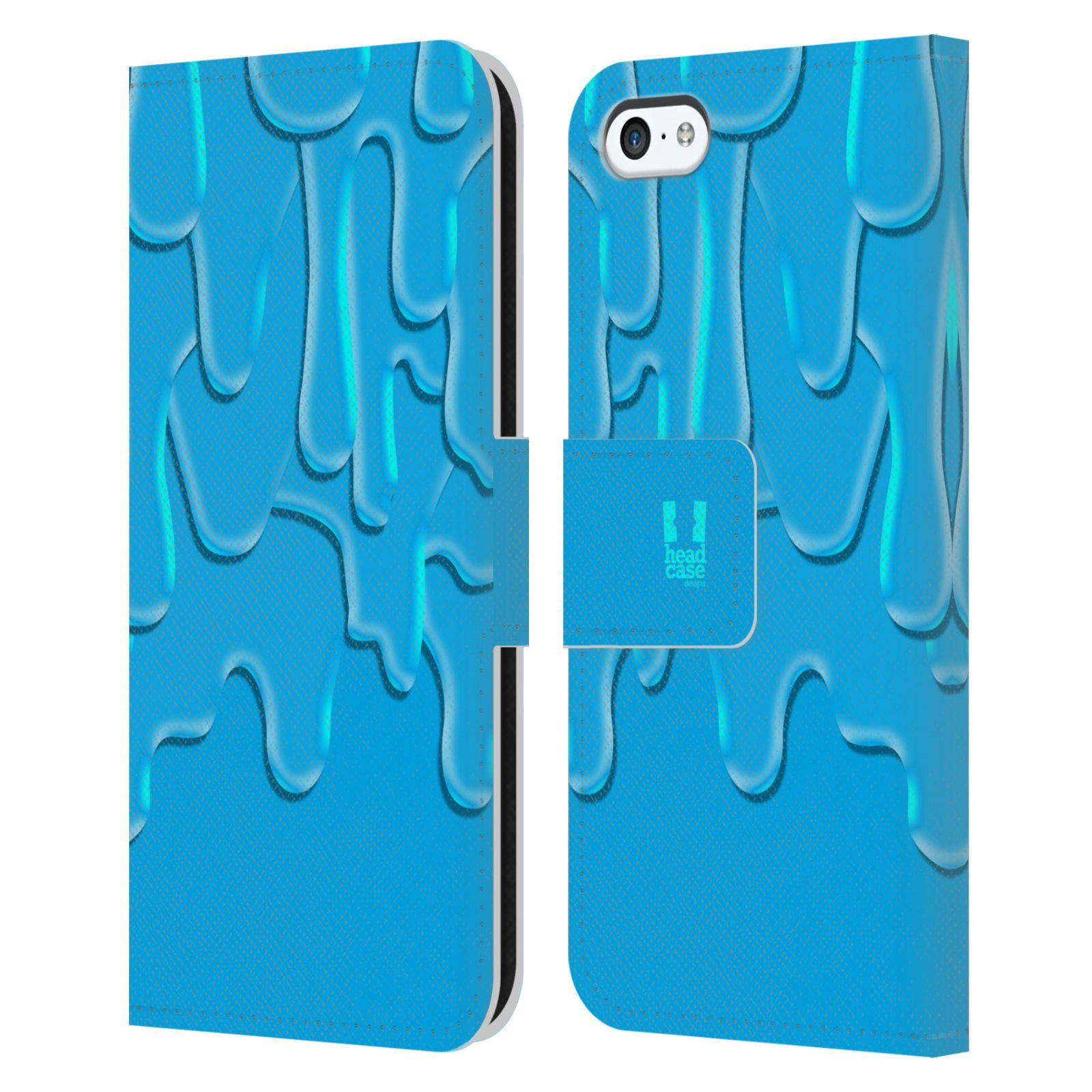 HEAD CASE Flipové pouzdro pro mobil Apple Iphone 5C ZÁPLAVA BARVA tyrkysová modrá