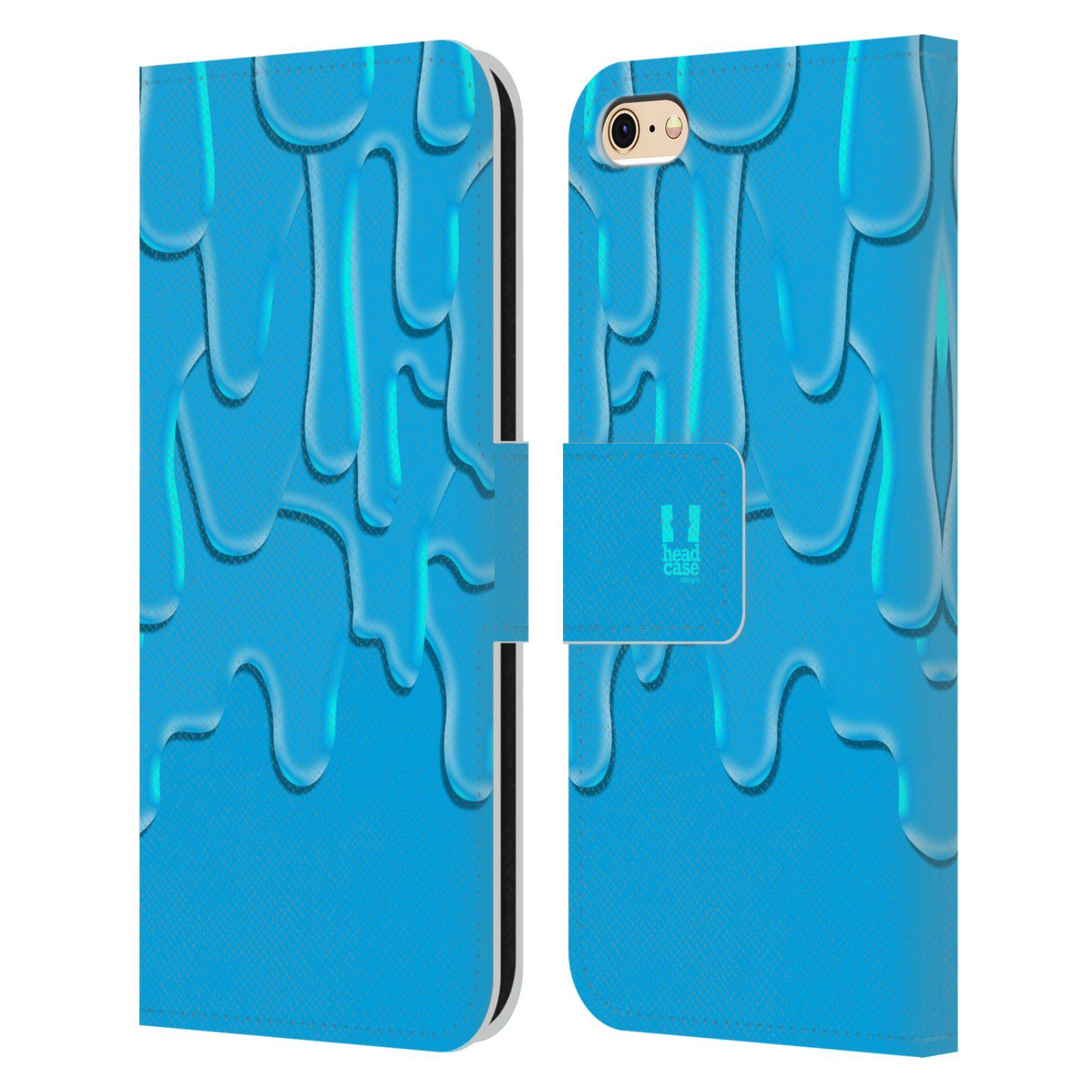 HEAD CASE Flipové pouzdro pro mobil Apple Iphone 6/6s ZÁPLAVA BARVA tyrkysová modrá