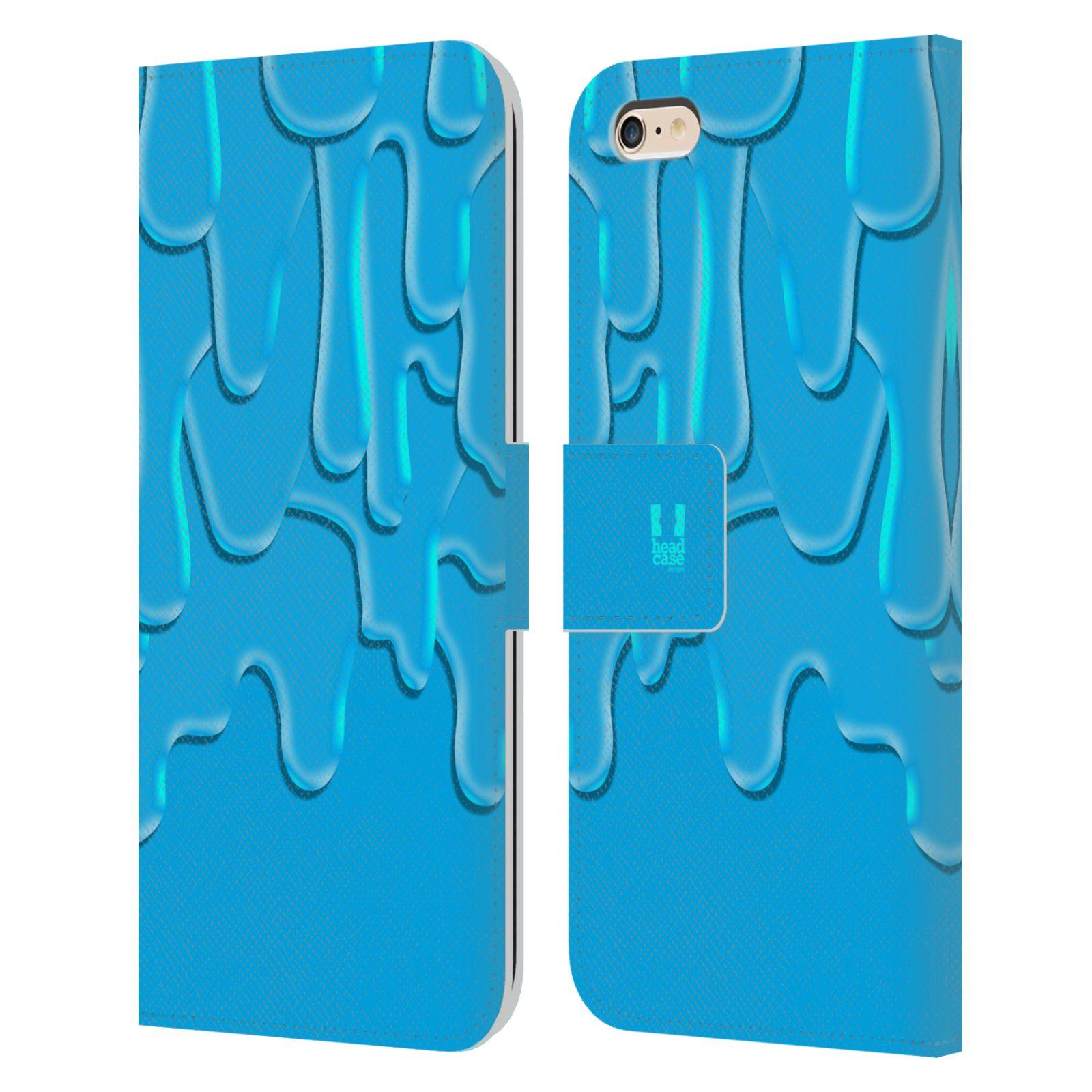 HEAD CASE Flipové pouzdro pro mobil Apple Iphone 6 PLUS / 6S PLUS ZÁPLAVA BARVA tyrkysová modrá
