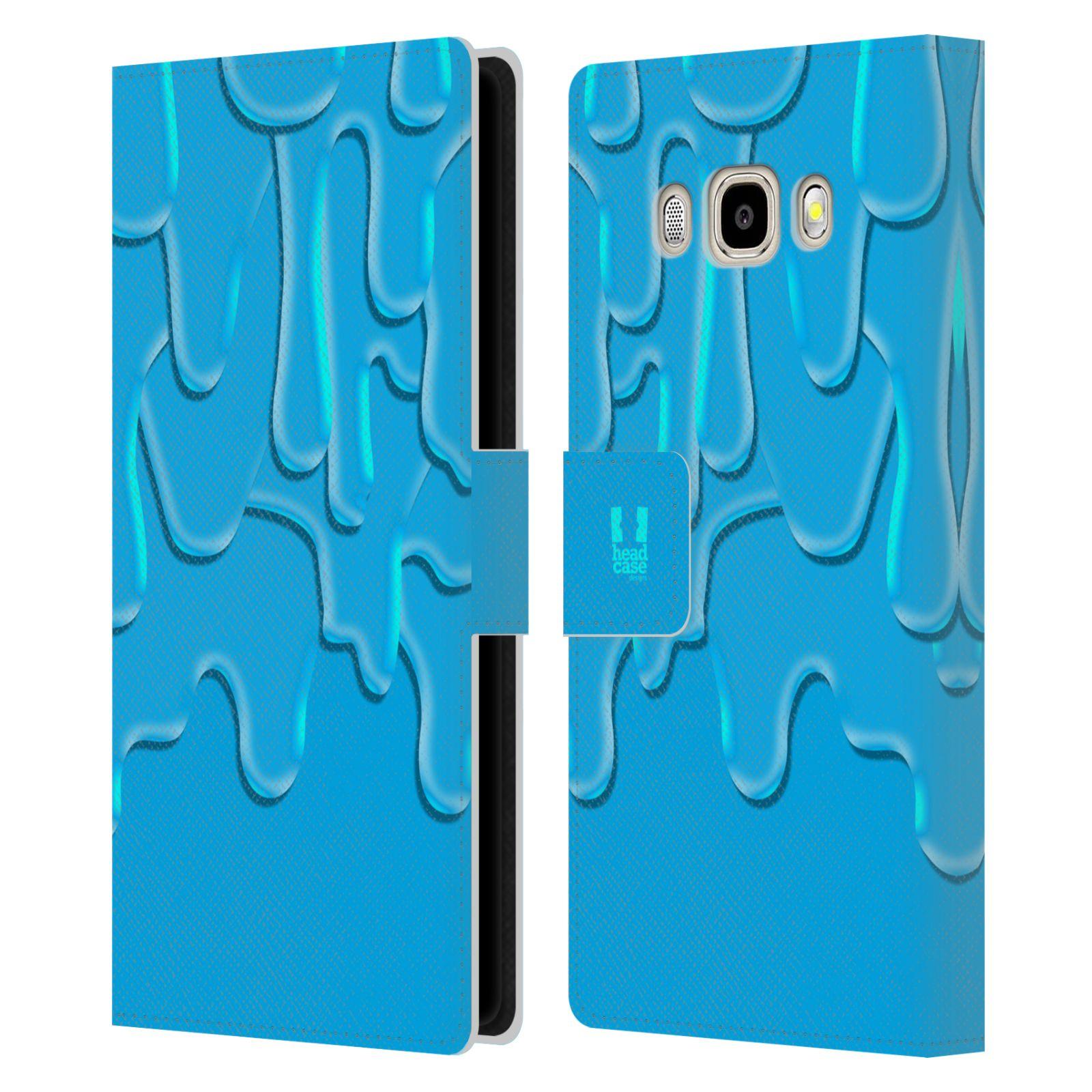 HEAD CASE Flipové pouzdro pro mobil Samsung Galaxy J5 2016 ZÁPLAVA BARVA tyrkysová modrá