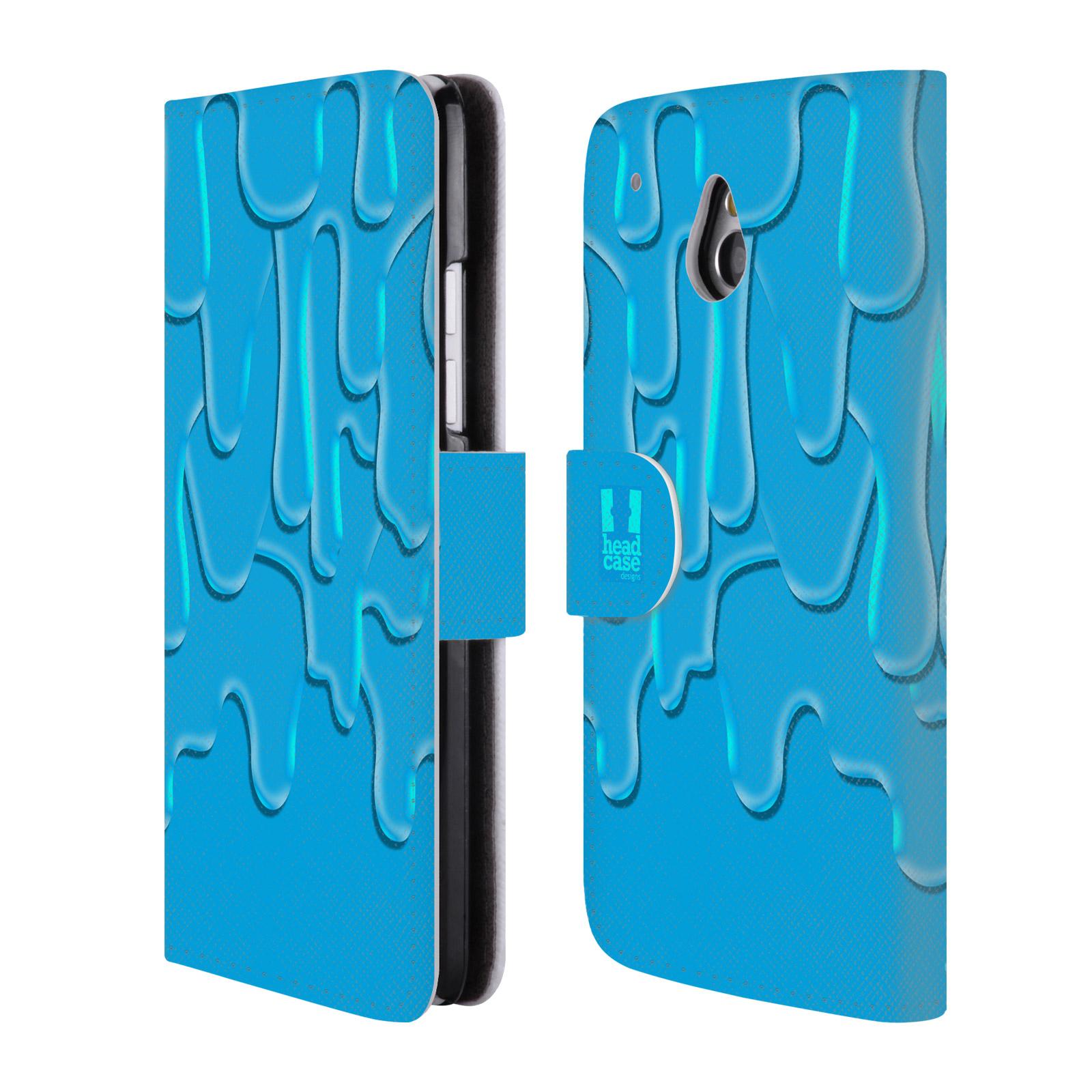 HEAD CASE Flipové pouzdro pro mobil HTC ONE MINI (M4) ZÁPLAVA BARVA tyrkysová modrá