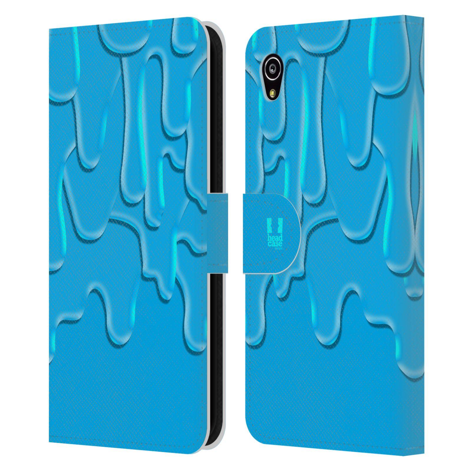 HEAD CASE Flipové pouzdro pro mobil SONY XPERIA M4 AQUA ZÁPLAVA BARVA tyrkysová modrá