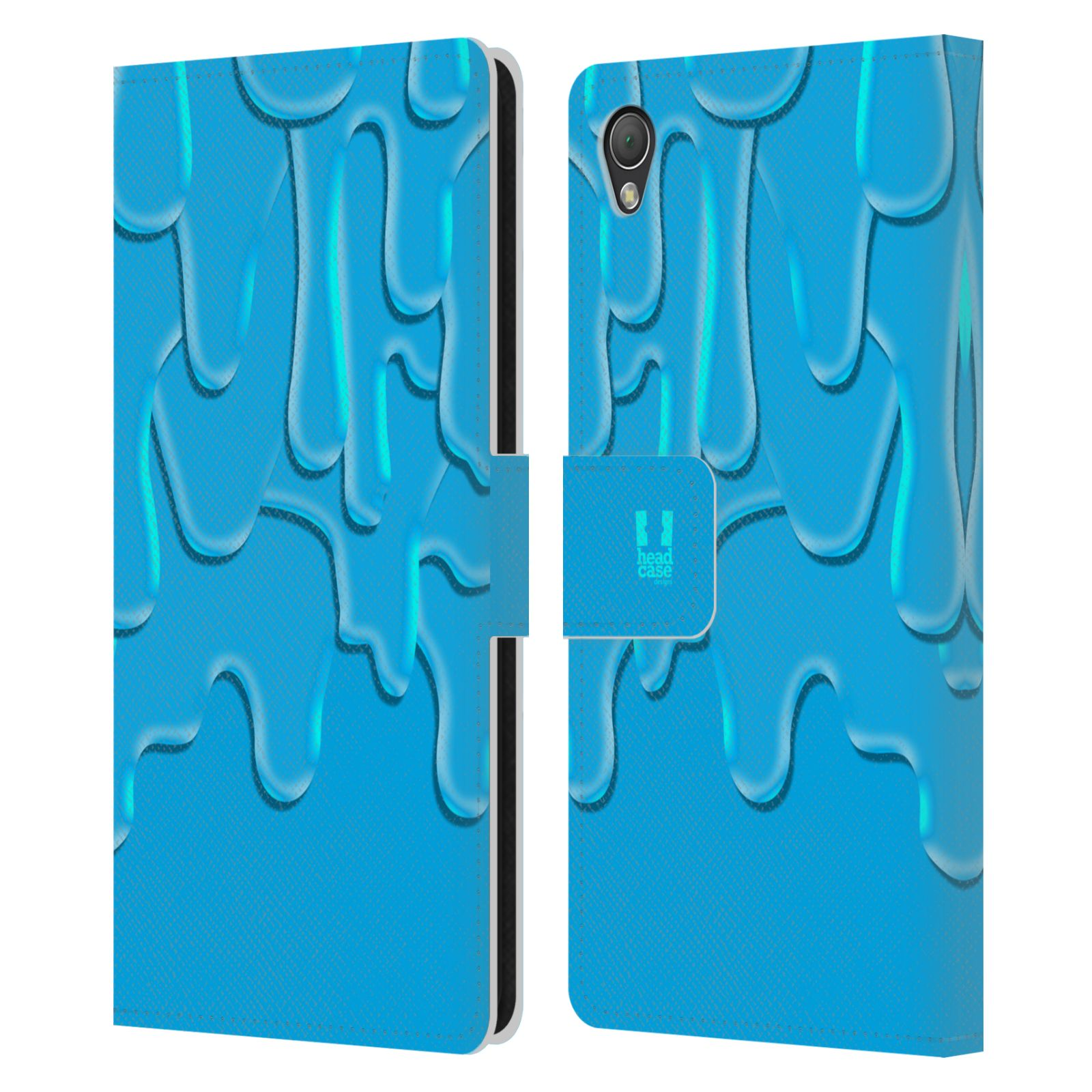 HEAD CASE Flipové pouzdro pro mobil SONY XPERIA Z3 ZÁPLAVA BARVA tyrkysová modrá