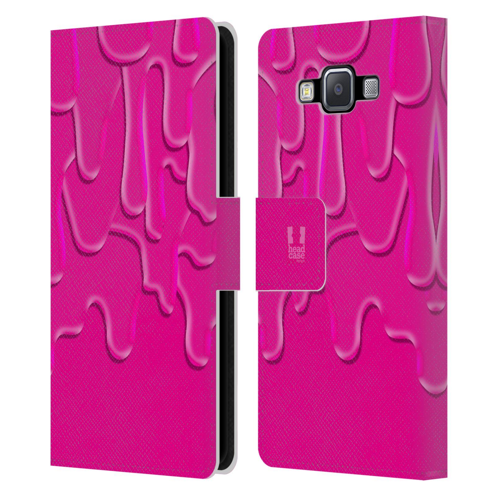 HEAD CASE Flipové pouzdro pro mobil Samsung Galaxy A5 ZÁPLAVA BARVA růžová