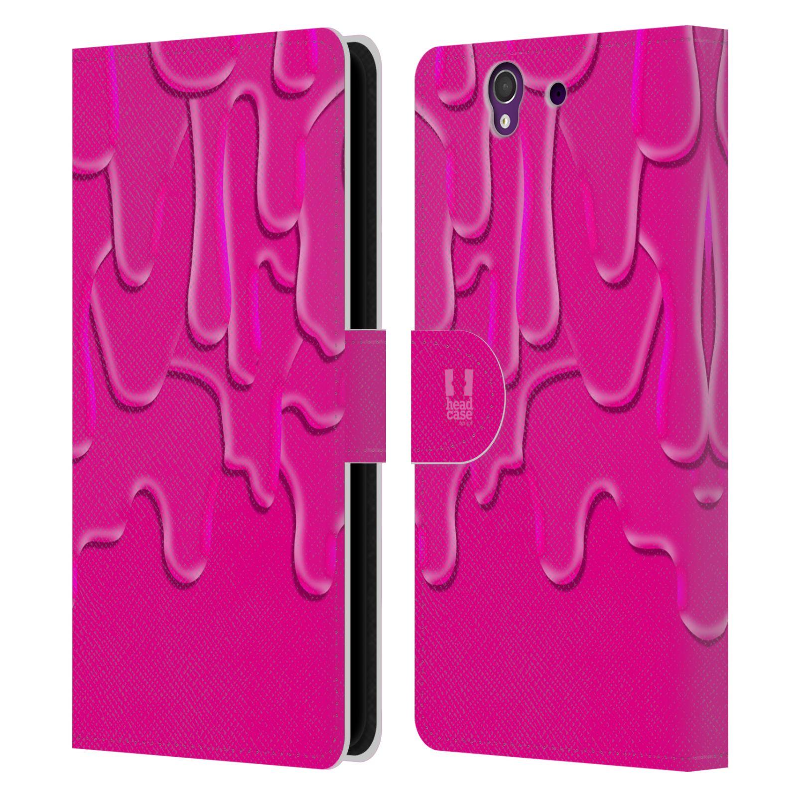 HEAD CASE Flipové pouzdro pro mobil SONY XPERIA Z (C6603) ZÁPLAVA BARVA růžová