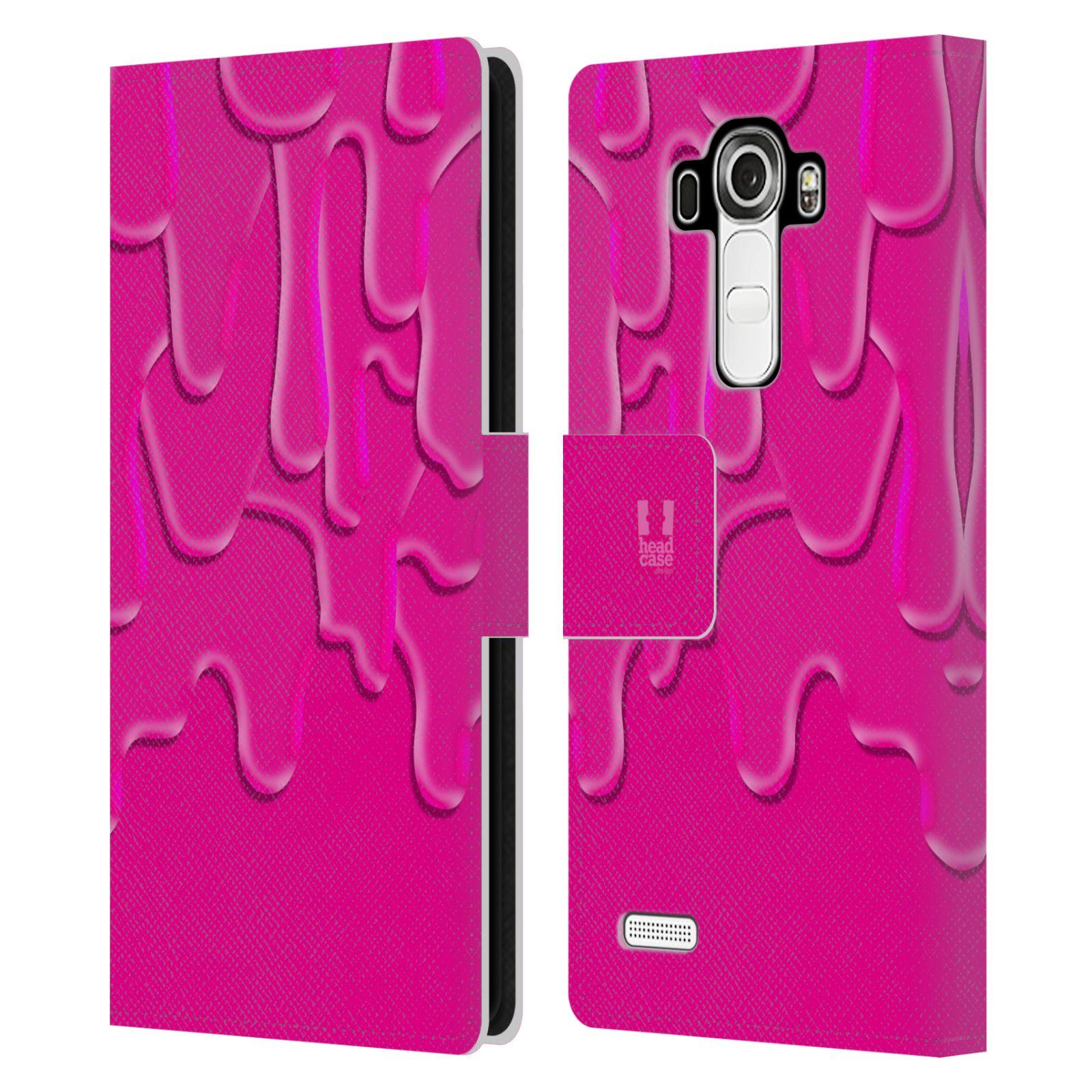 HEAD CASE Flipové pouzdro pro mobil LG G4 (H815) ZÁPLAVA BARVA růžová