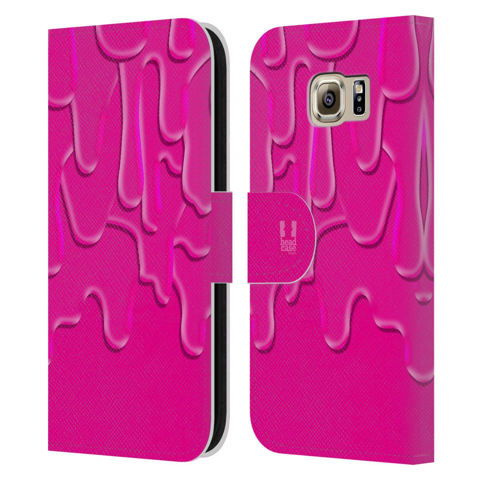HEAD CASE Flipové pouzdro pro mobil Samsung Galaxy S6 (G9200) ZÁPLAVA BARVA růžová