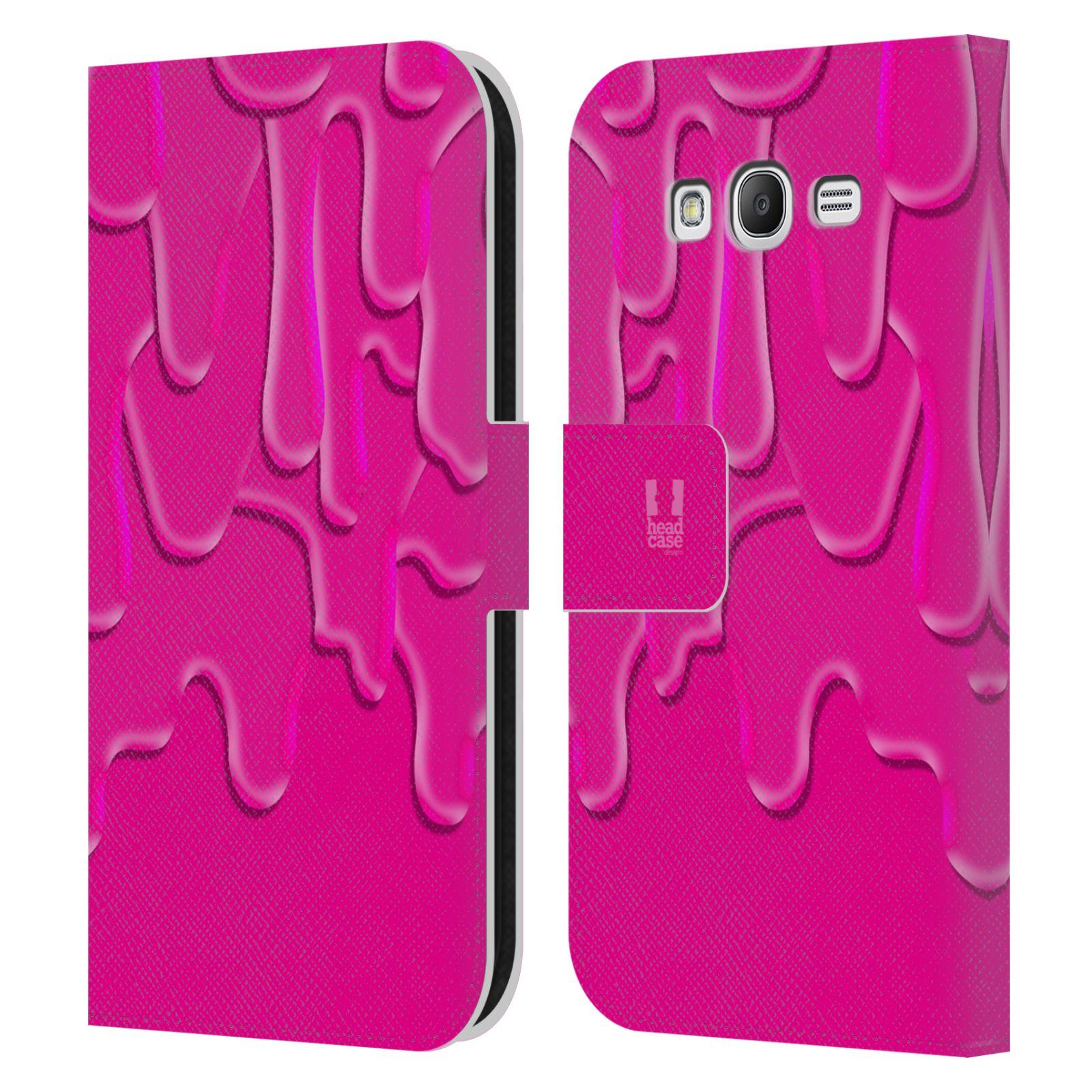 HEAD CASE Flipové pouzdro pro mobil Samsung Galaxy Grand i9080 ZÁPLAVA BARVA růžová