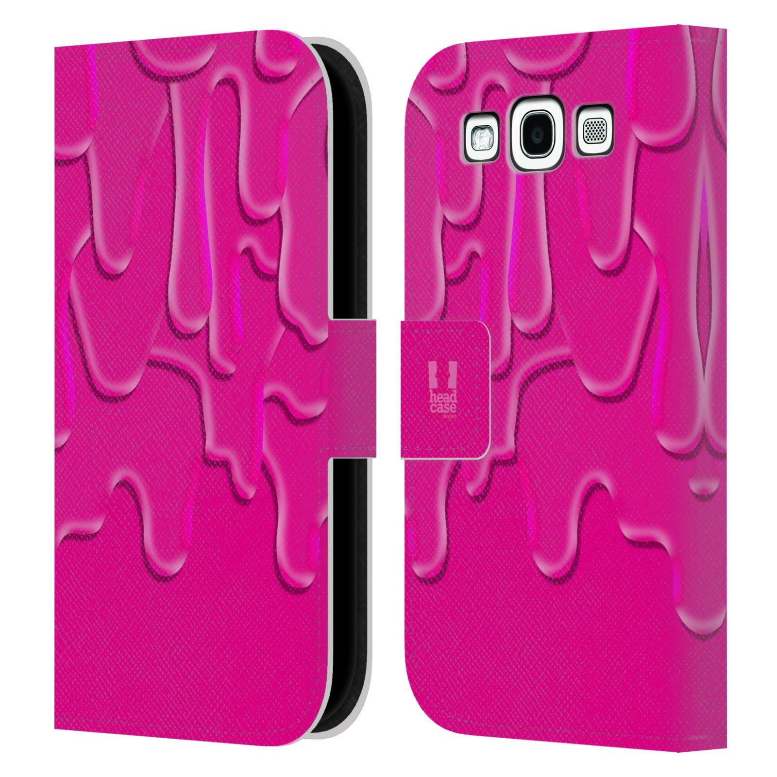 HEAD CASE Flipové pouzdro pro mobil Samsung Galaxy S3 ZÁPLAVA BARVA růžová