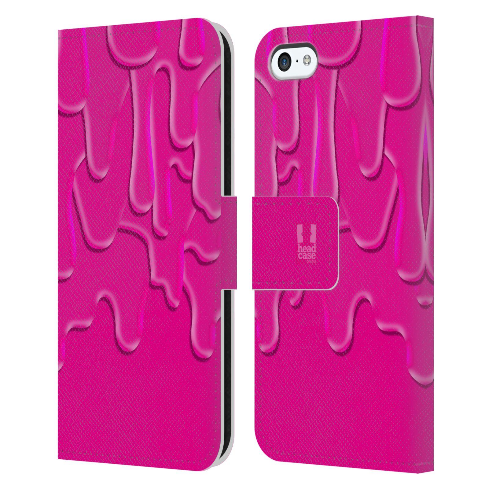 HEAD CASE Flipové pouzdro pro mobil Apple Iphone 5C ZÁPLAVA BARVA růžová