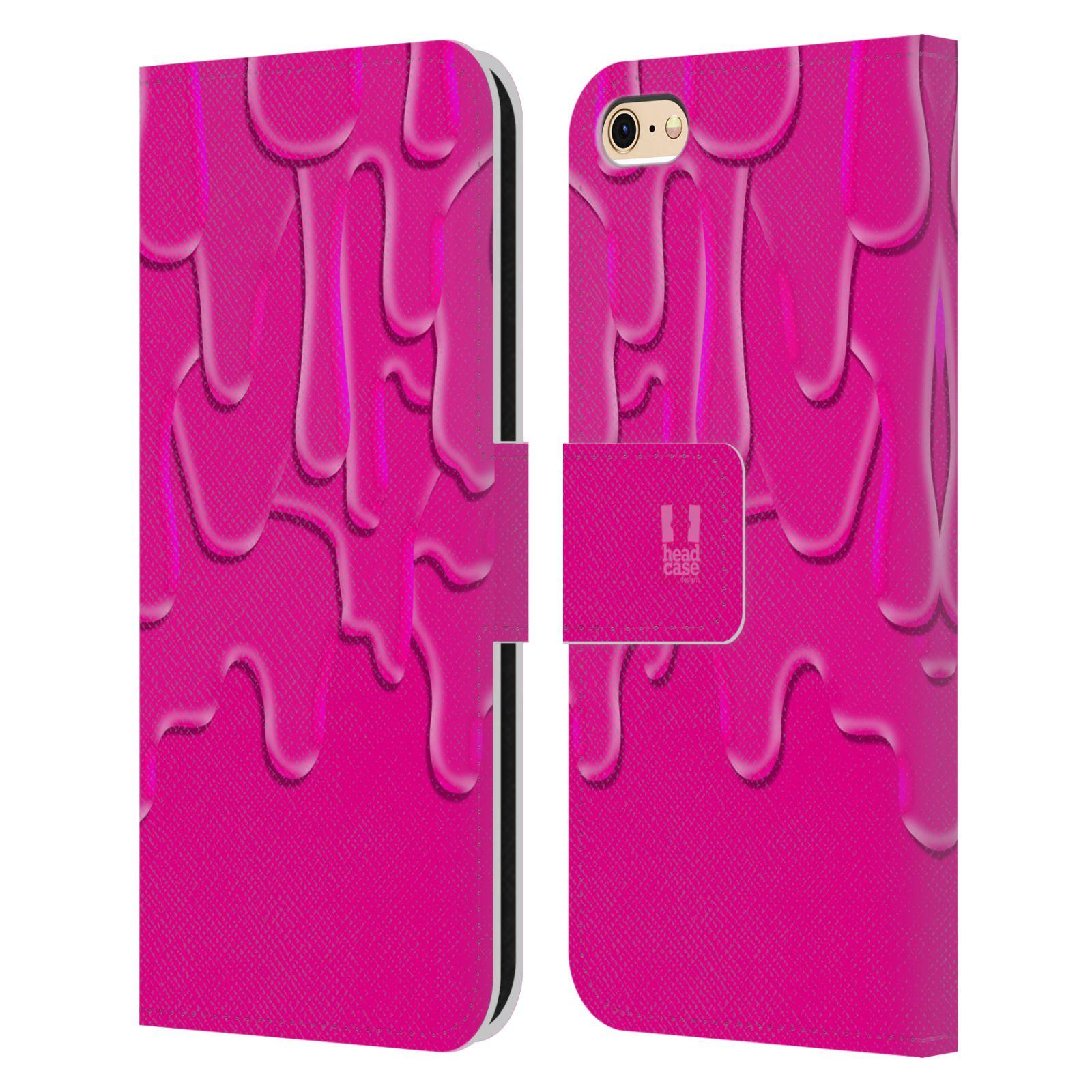 HEAD CASE Flipové pouzdro pro mobil Apple Iphone 6/6s ZÁPLAVA BARVA růžová