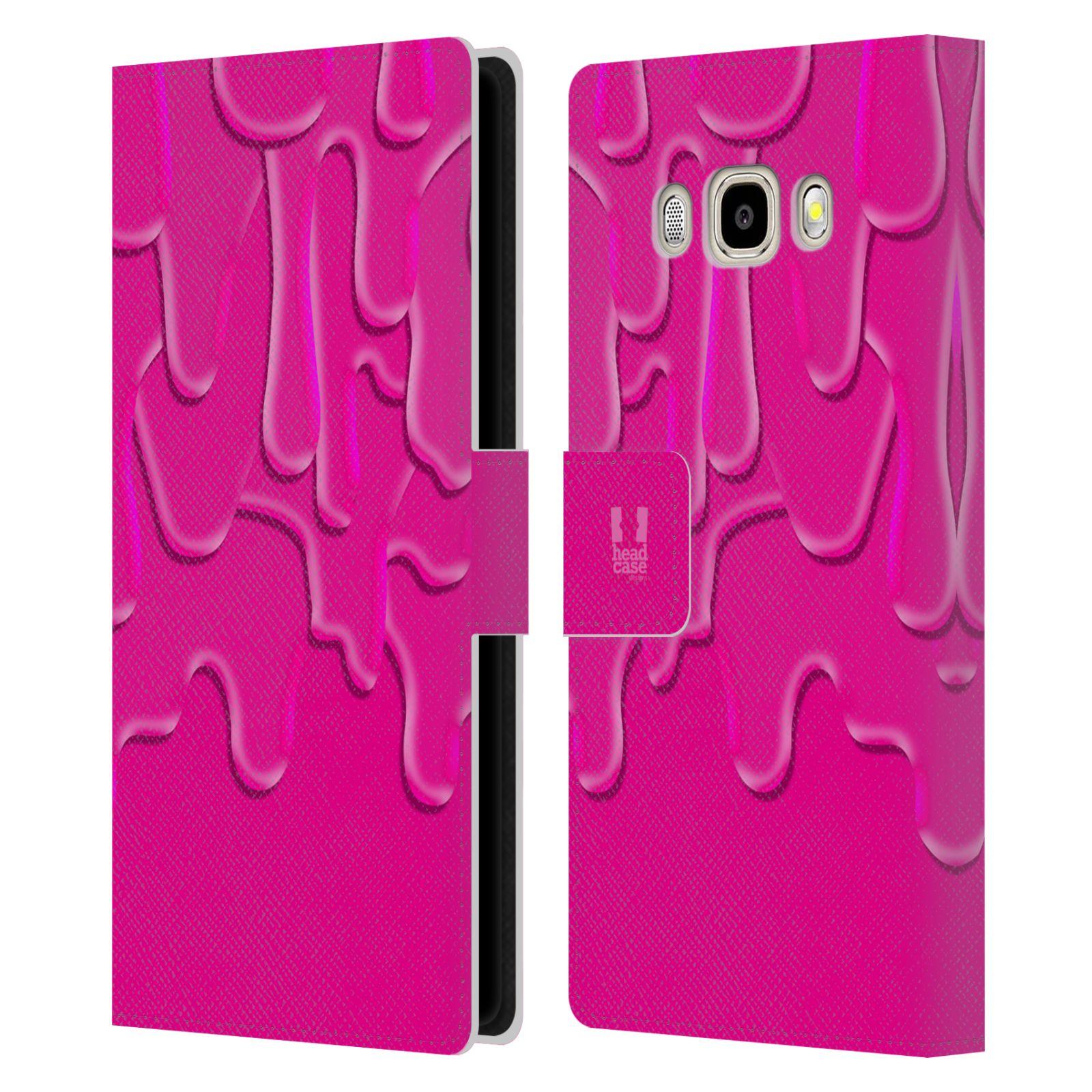 HEAD CASE Flipové pouzdro pro mobil Samsung Galaxy J5 2016 ZÁPLAVA BARVA růžová