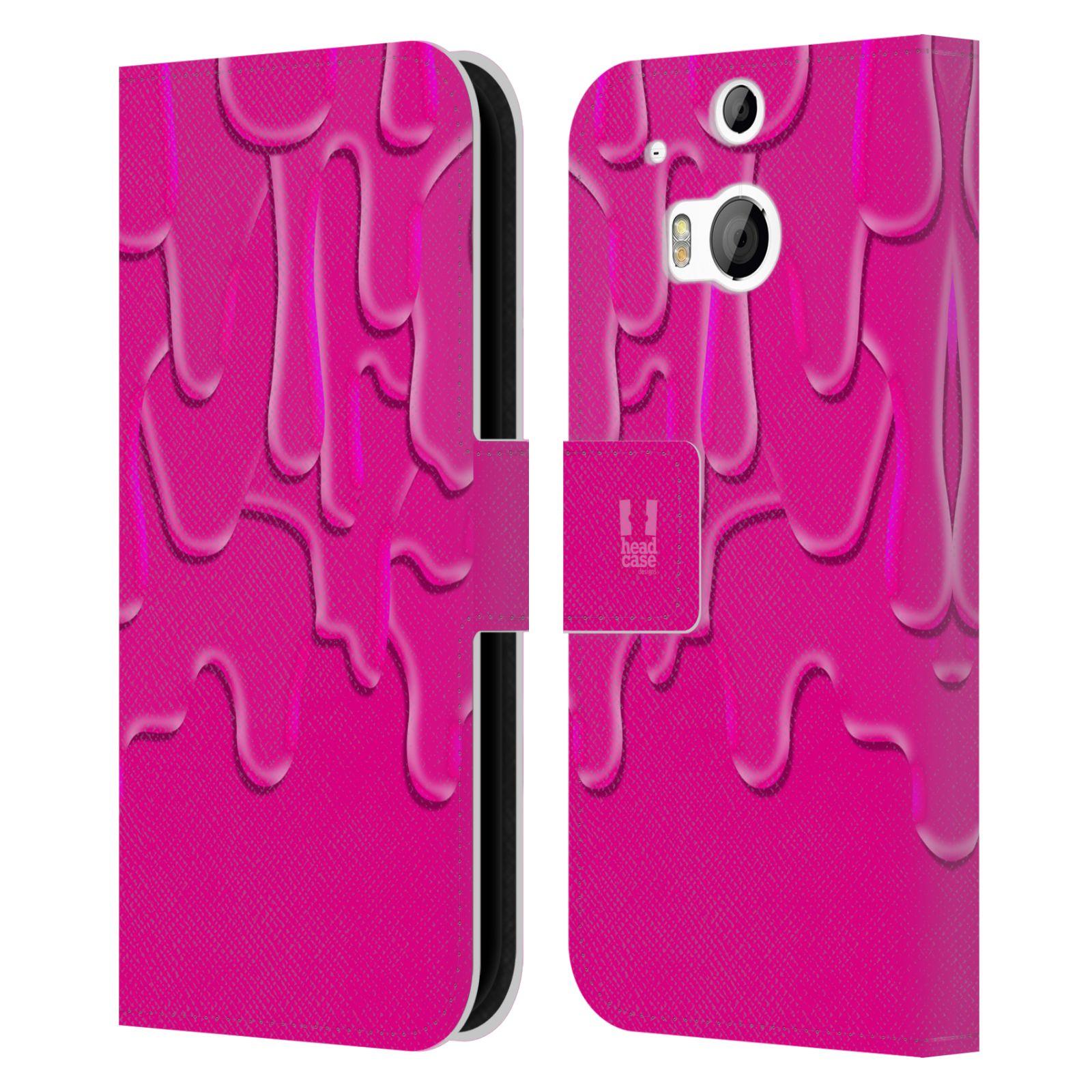 HEAD CASE Flipové pouzdro pro mobil HTC ONE (M8, M8s) ZÁPLAVA BARVA růžová