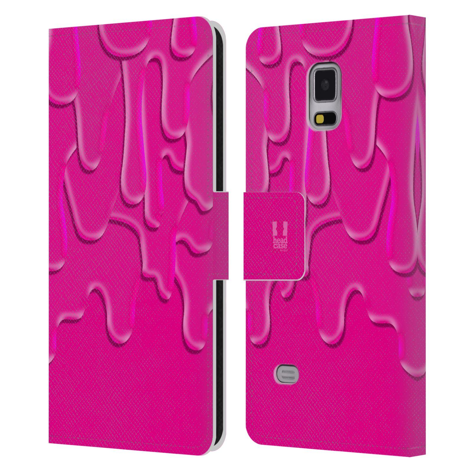 HEAD CASE Flipové pouzdro pro mobil Samsung Galaxy Note 4 ZÁPLAVA BARVA růžová