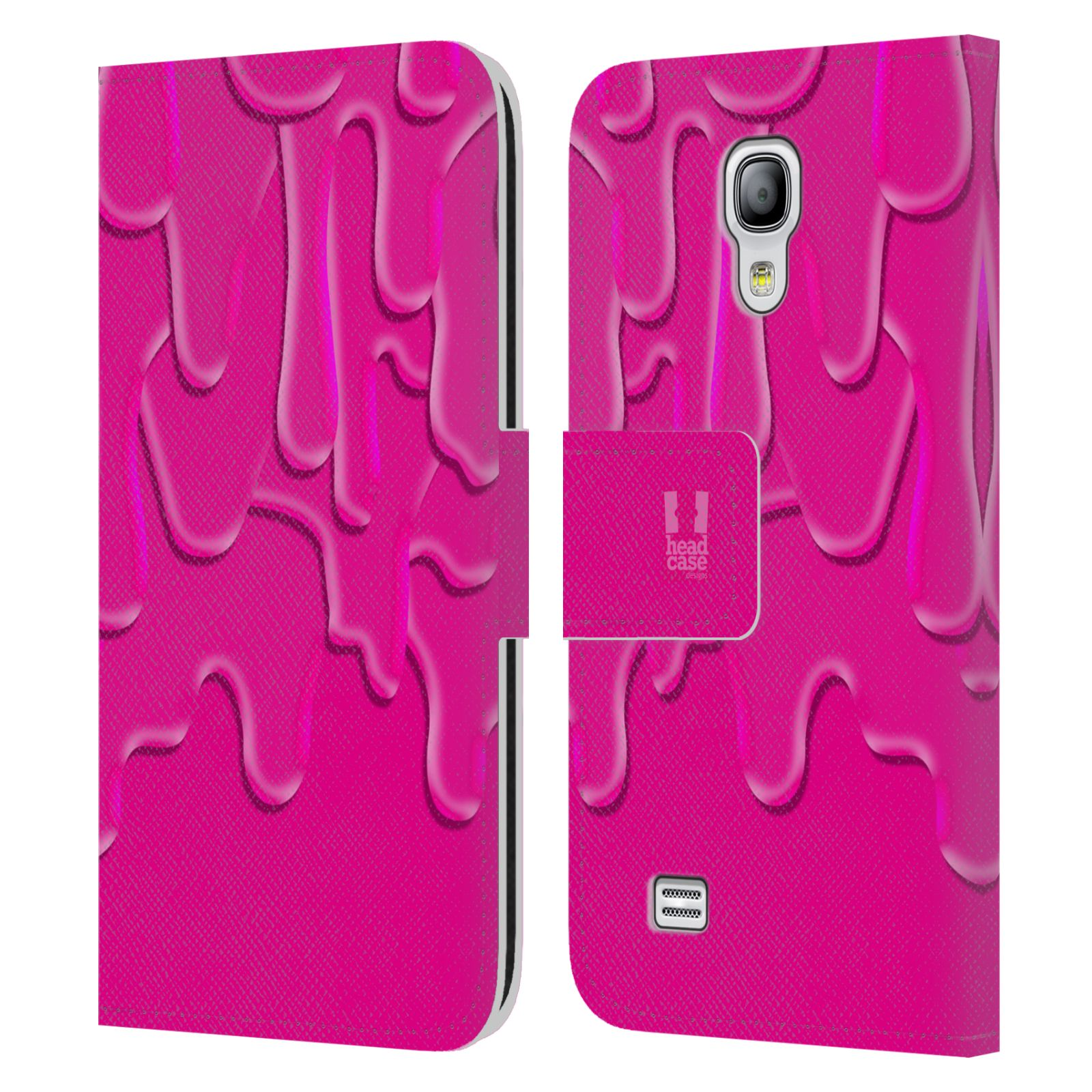 HEAD CASE Flipové pouzdro pro mobil Samsung Galaxy S4 MINI / S4 MINI DUOS ZÁPLAVA BARVA růžová