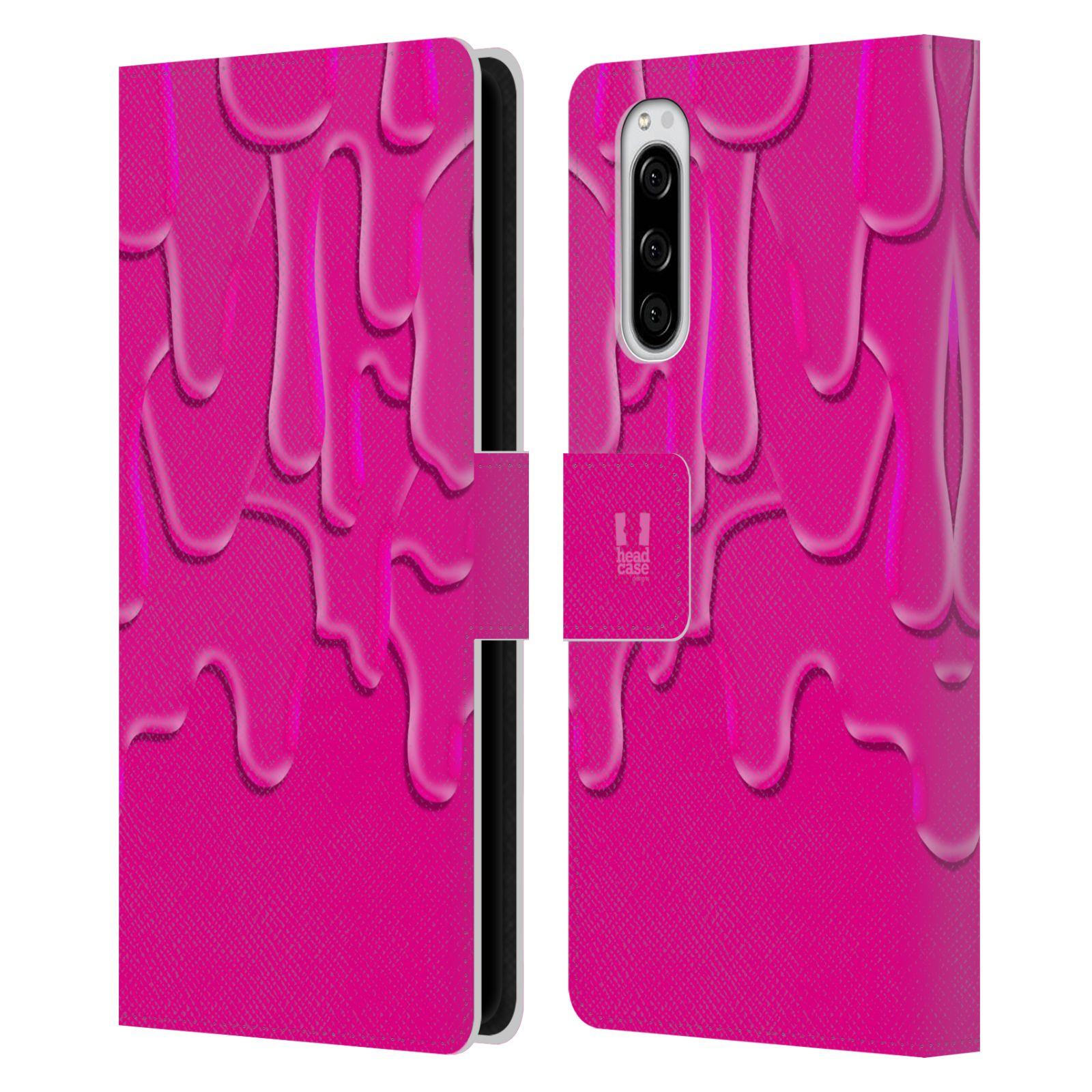 Pouzdro na mobil Sony Xperia 5 ZÁPLAVA BARVA růžová
