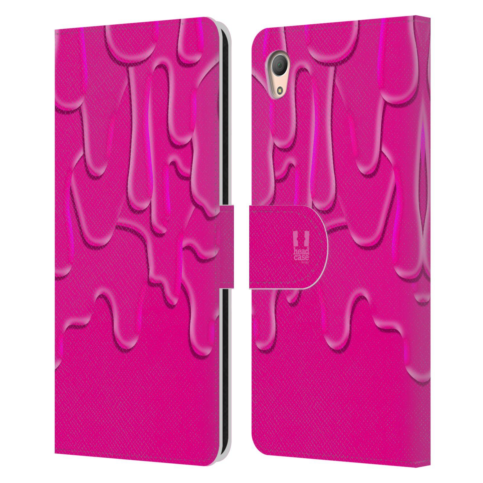 HEAD CASE Flipové pouzdro pro mobil SONY XPERIA Z3+ (PLUS) ZÁPLAVA BARVA růžová